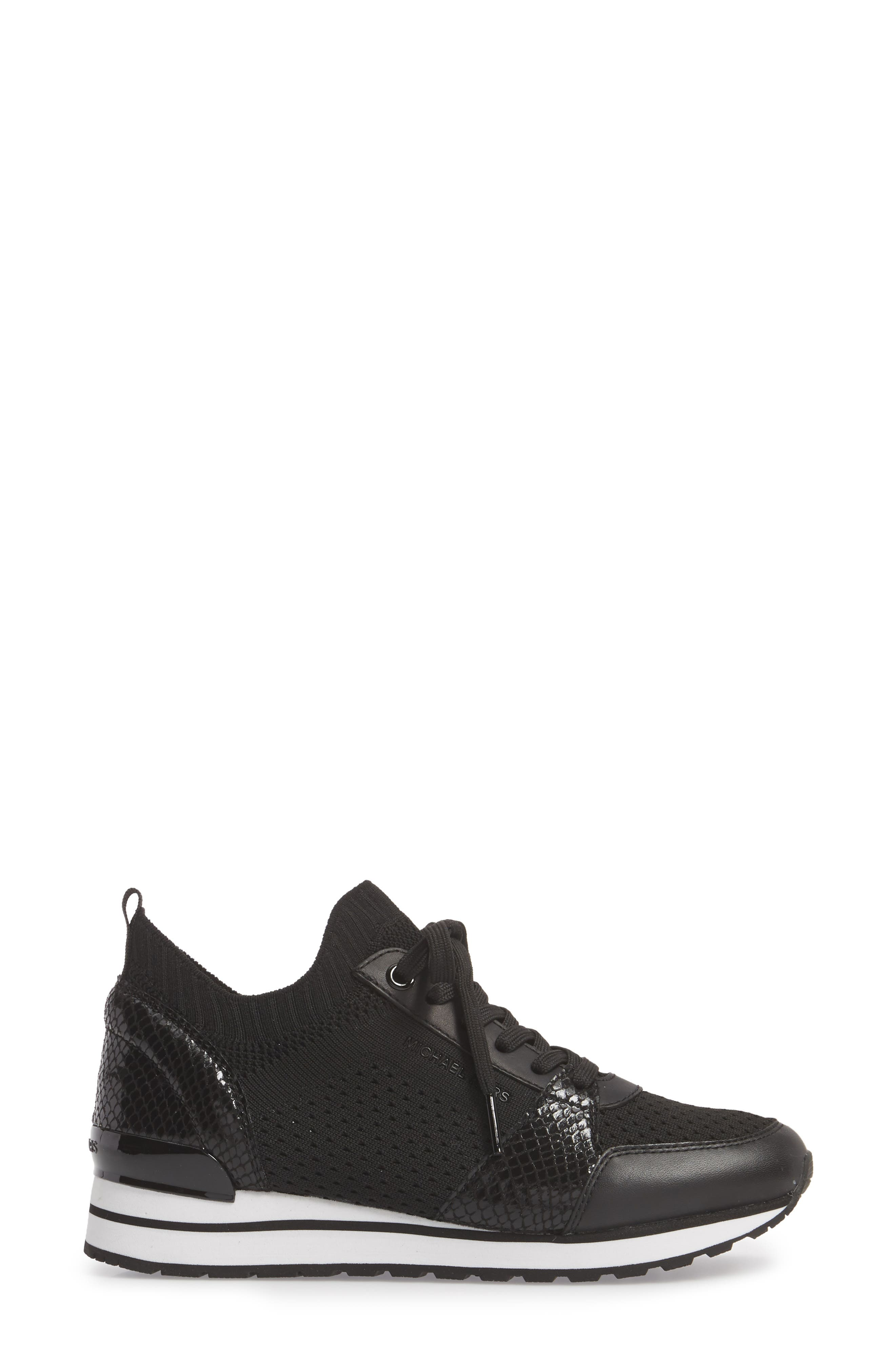 Billie Perforated Sneaker,                             Alternate thumbnail 3, color,                             002