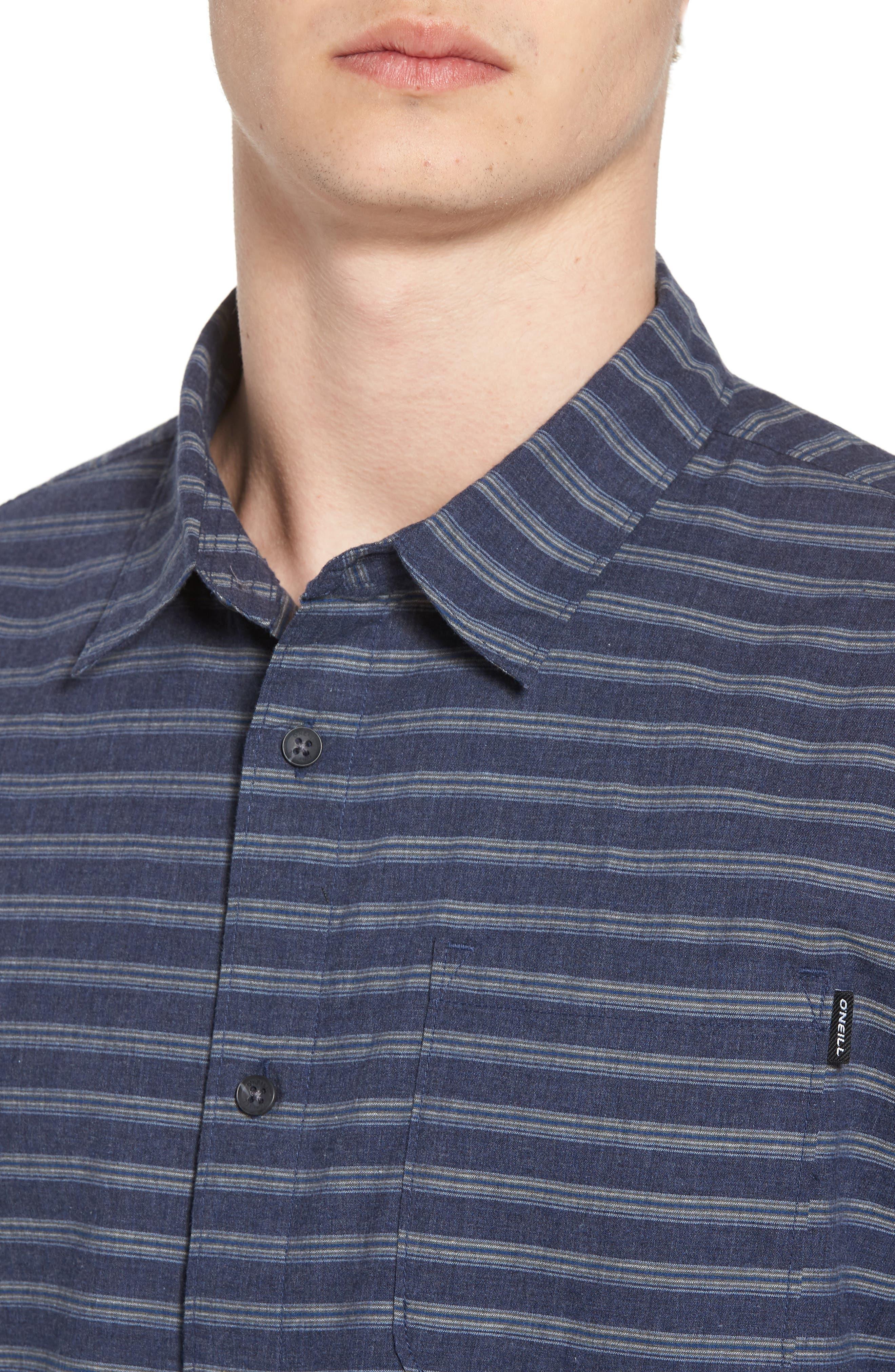 Stag Short Sleeve Shirt,                             Alternate thumbnail 4, color,