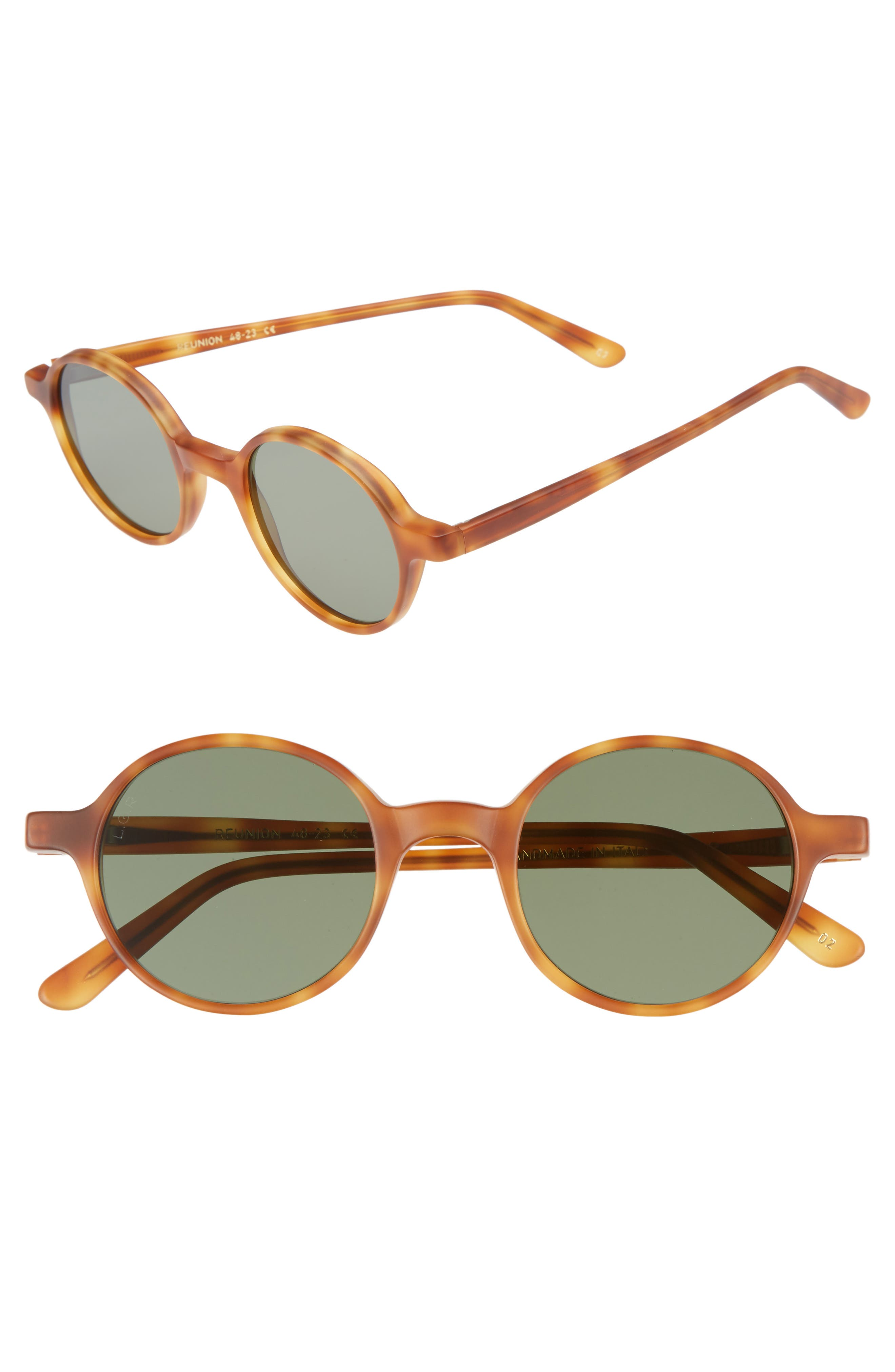 Reunion 48mm Sunglasses,                             Main thumbnail 1, color,                             HAVANA CHIARO