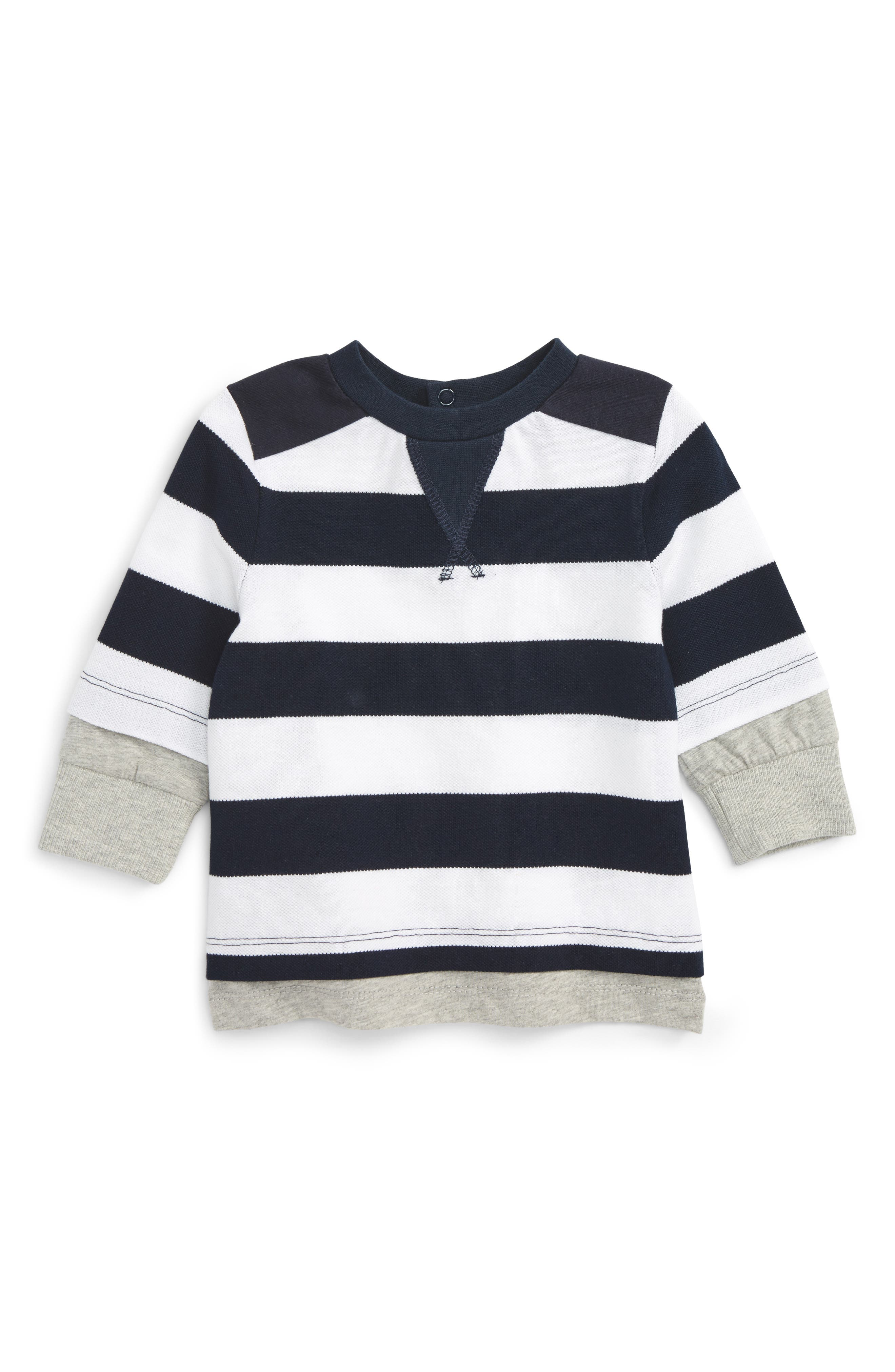 Stripe Shirt,                         Main,                         color, 410