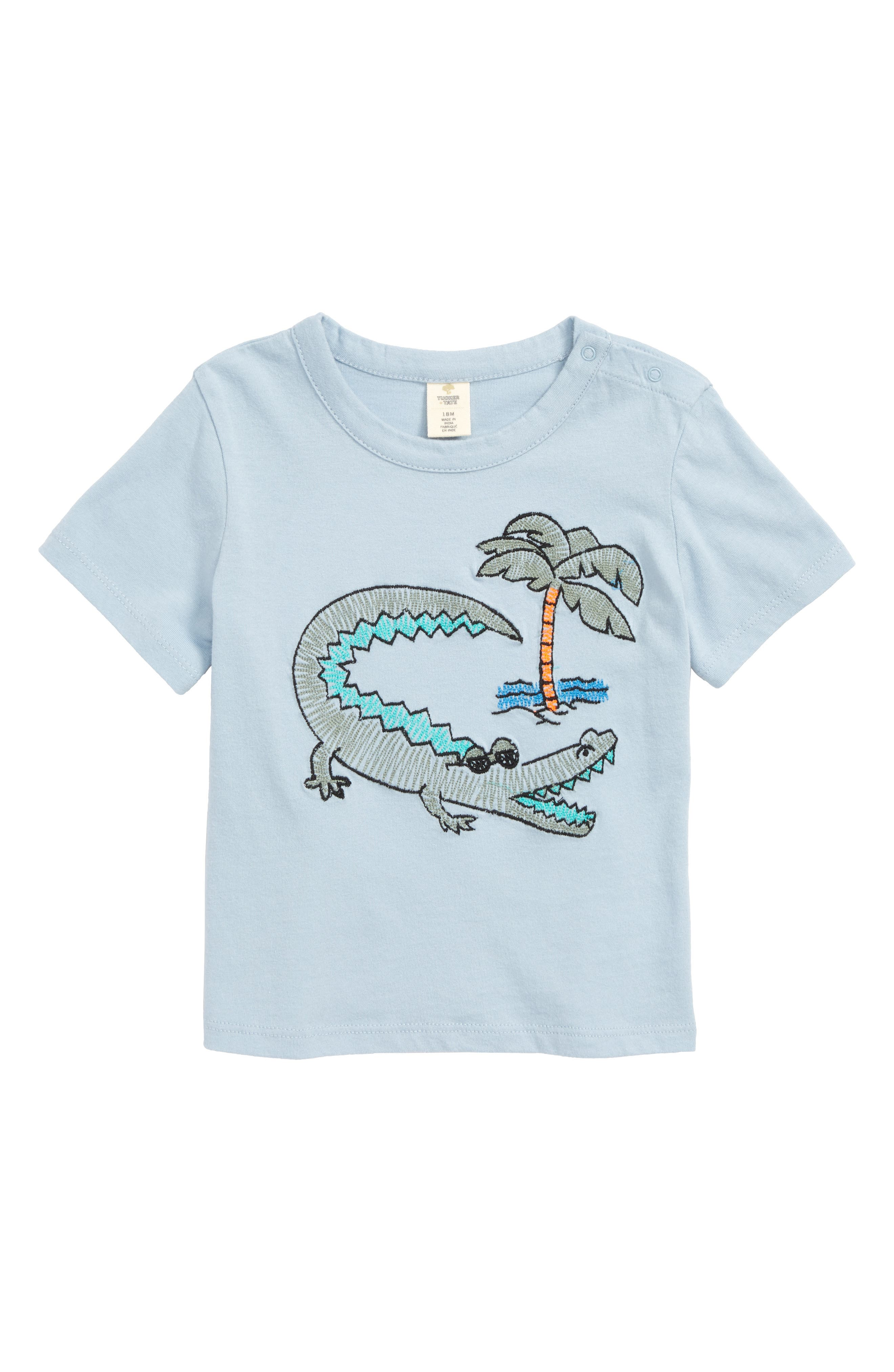 Embroidered T-Shirt,                         Main,                         color, 420