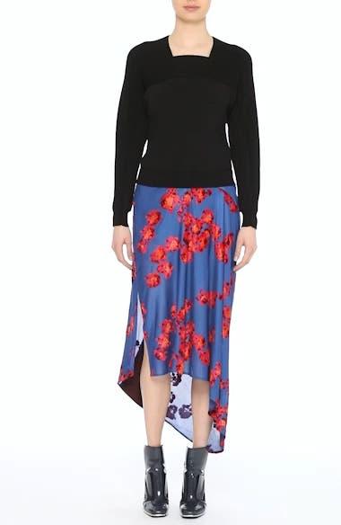 Jacquard Jersey Asymmetrical Skirt, video thumbnail