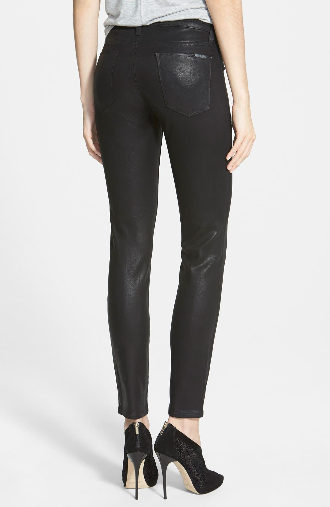 'Nico' Mid Rise Skinny Stretch Jeans,                             Alternate thumbnail 2, color,                             001