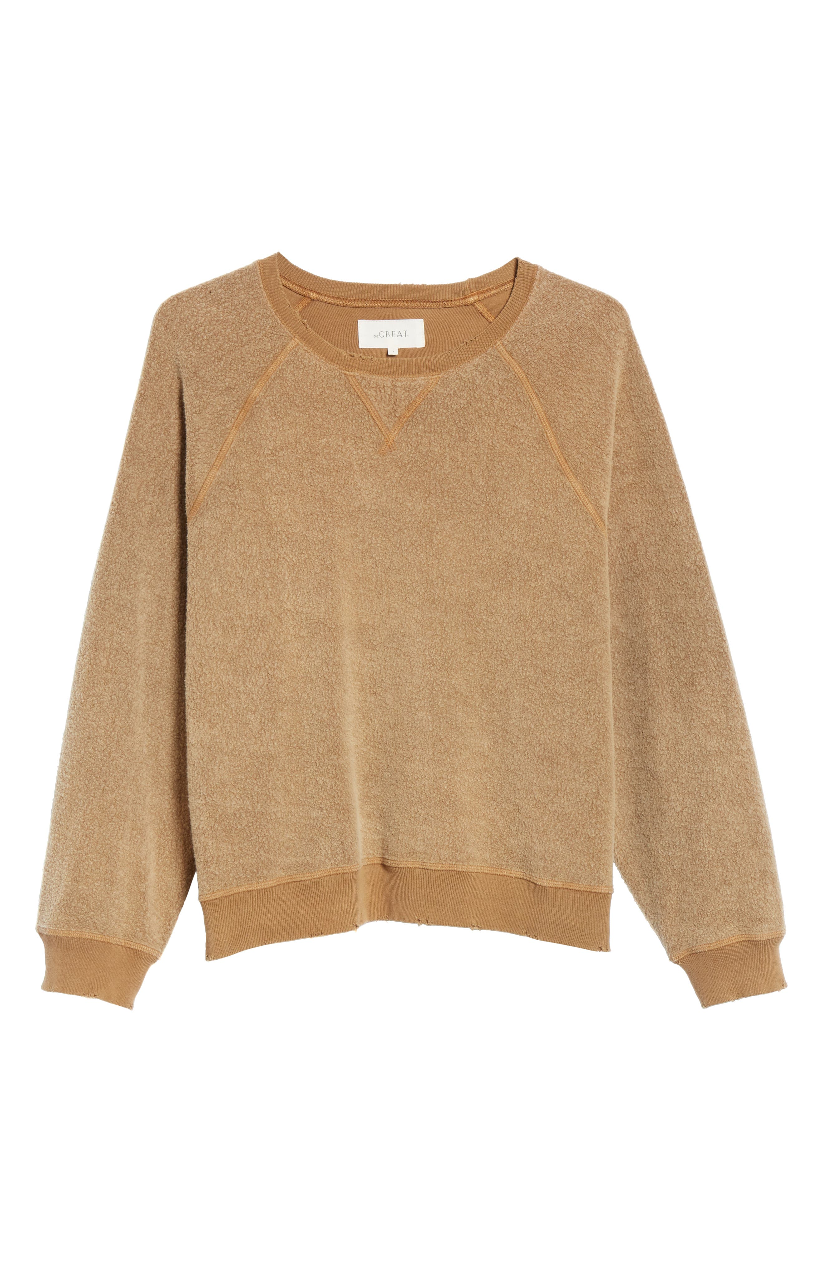 Slouch Sweatshirt,                             Alternate thumbnail 6, color,                             CAMEL
