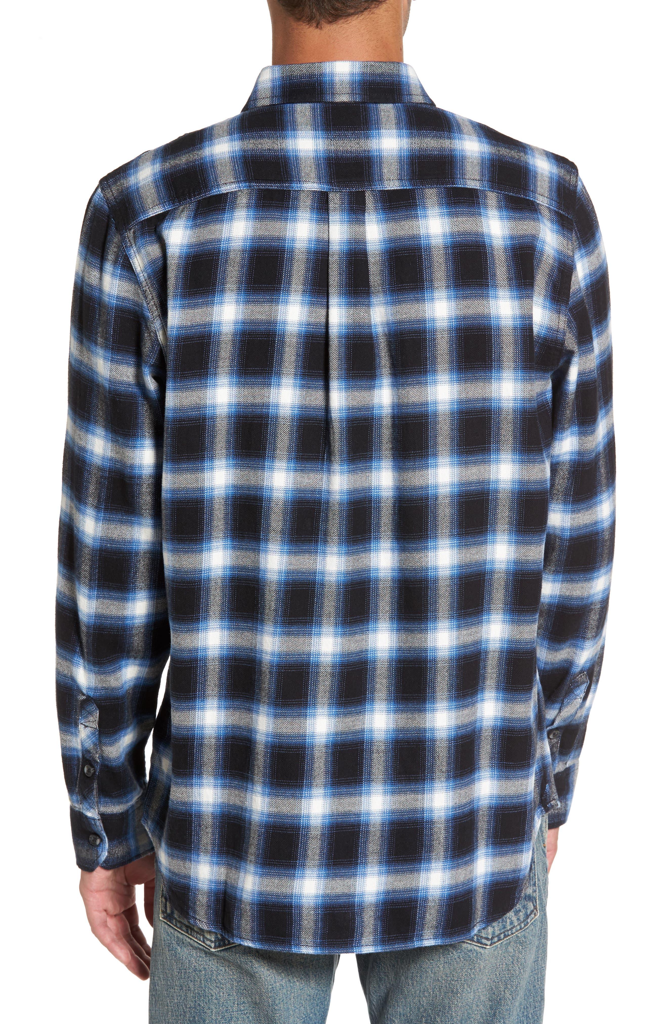 Beachwood Flannel Shirt,                             Alternate thumbnail 2, color,                             001