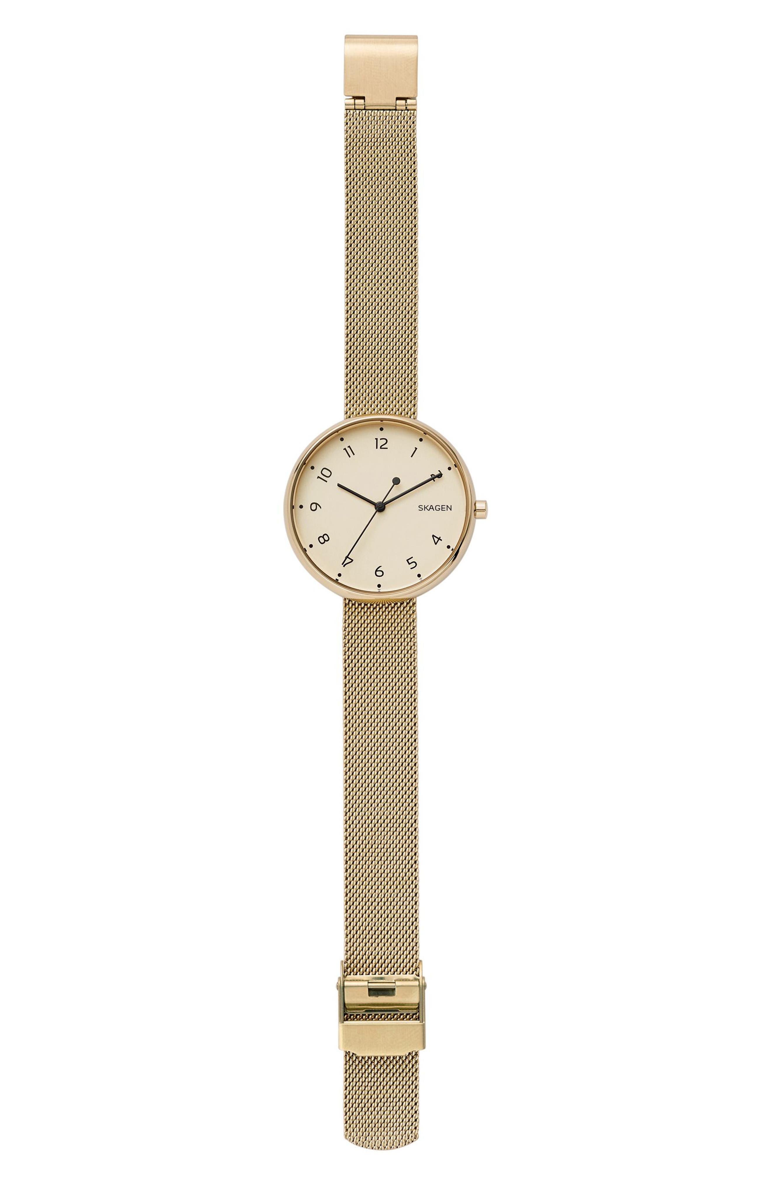 Signatur Mesh Strap Watch, 36mm,                             Alternate thumbnail 4, color,