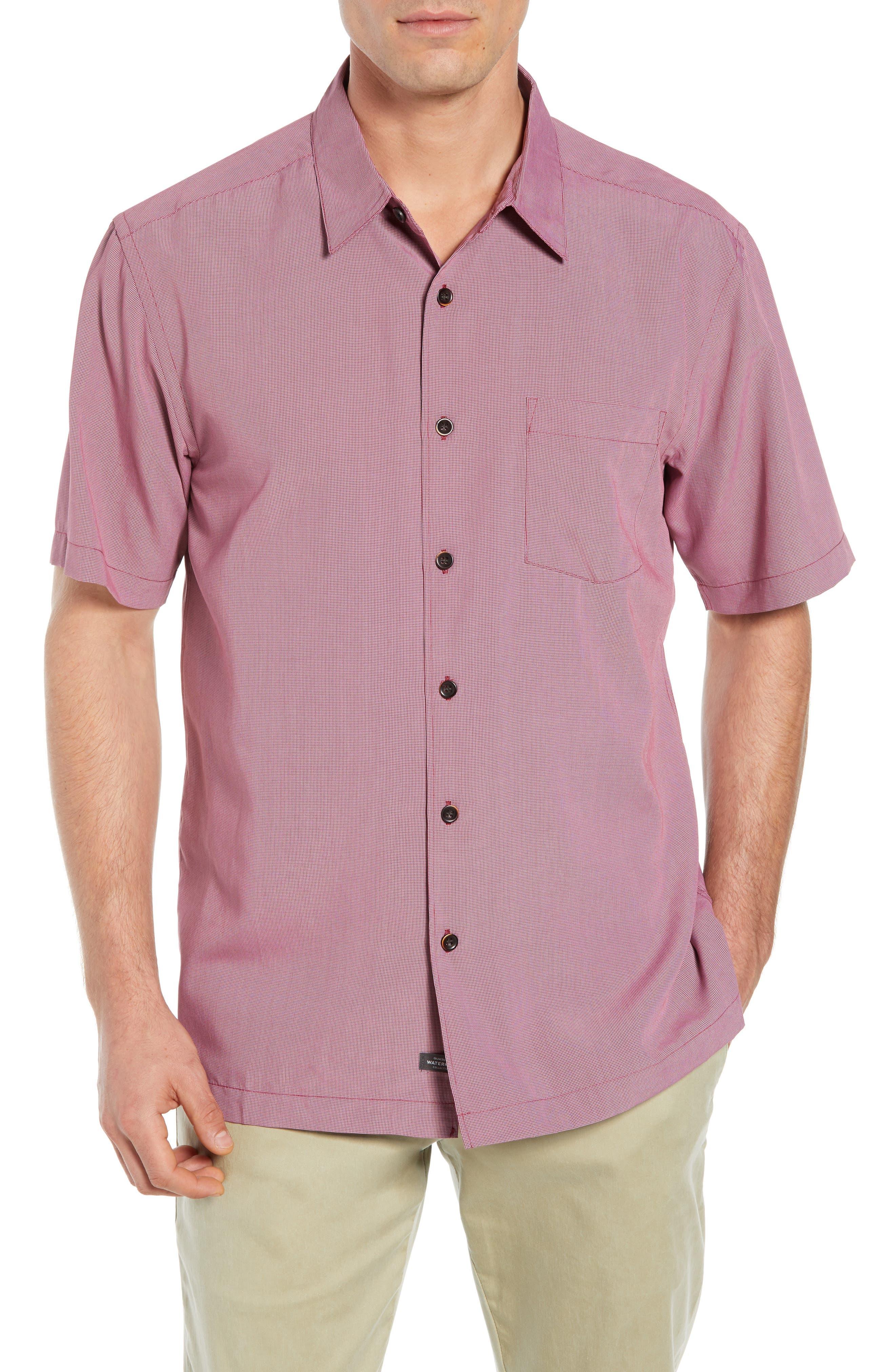 Cane Island Classic Fit Camp Shirt,                         Main,                         color, TAWNY PORT