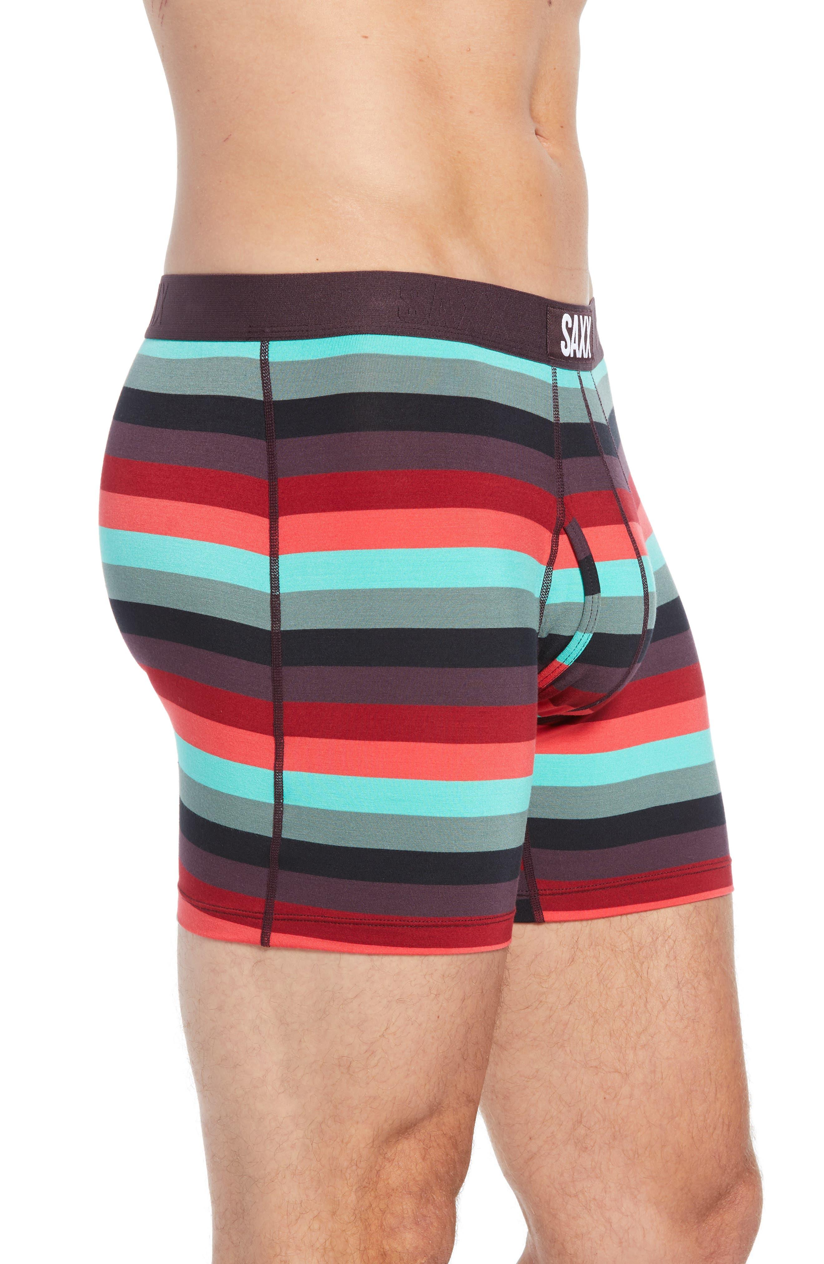Ultra Cabana Stripe Stretch Boxer Briefs,                             Alternate thumbnail 3, color,                             BERRY CABANA STRIPE