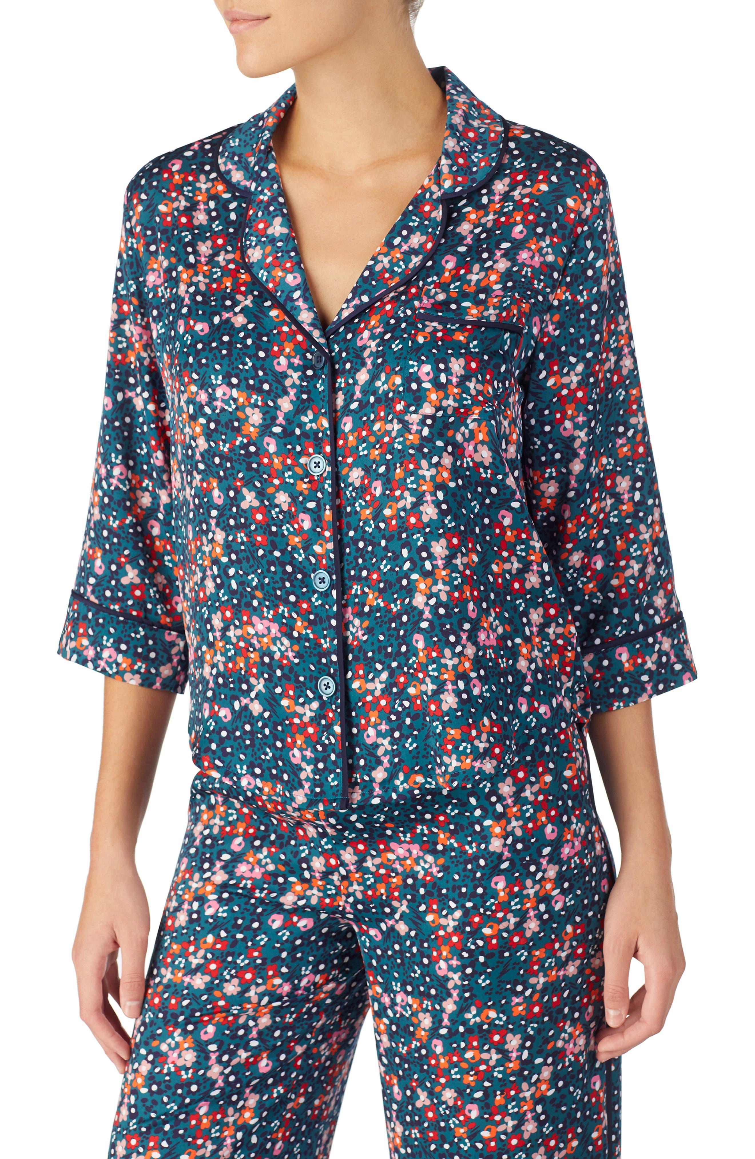 Pajama Top,                             Main thumbnail 1, color,                             DITSY FLORAL
