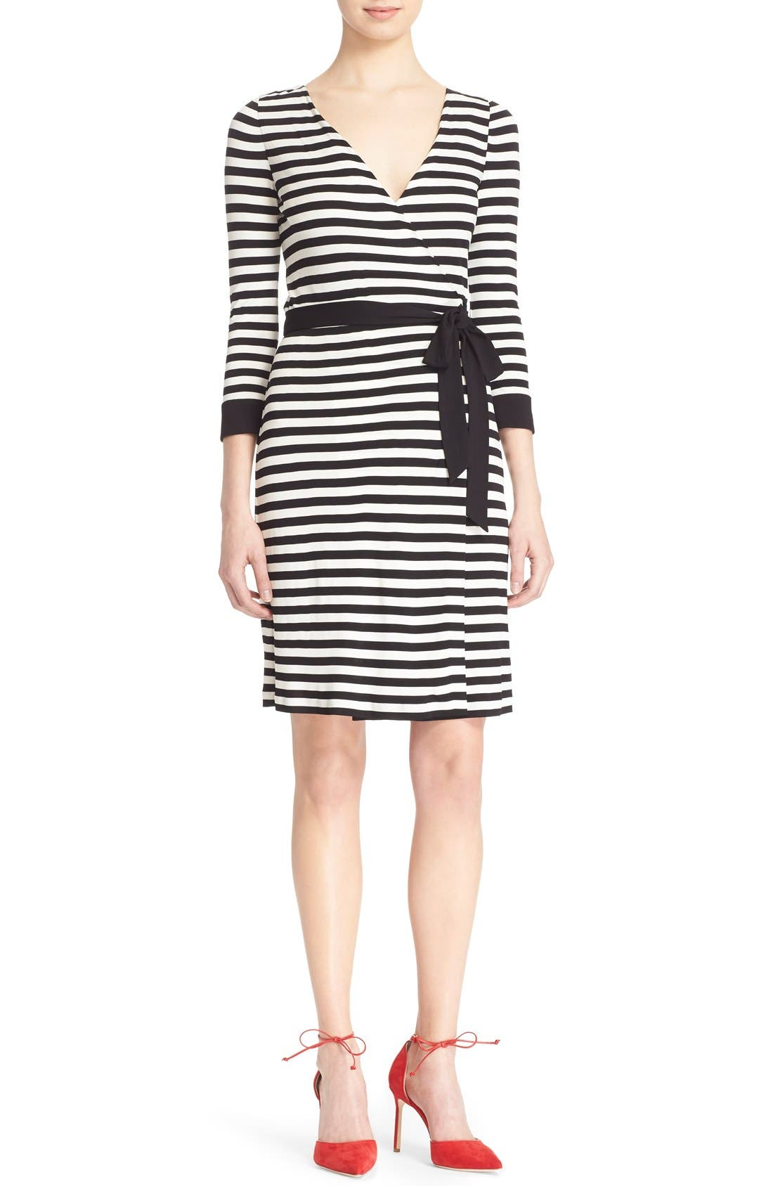 DIANE VON FURSTENBERG 'New Julian Two' Wrap Dress, Main, color, 011