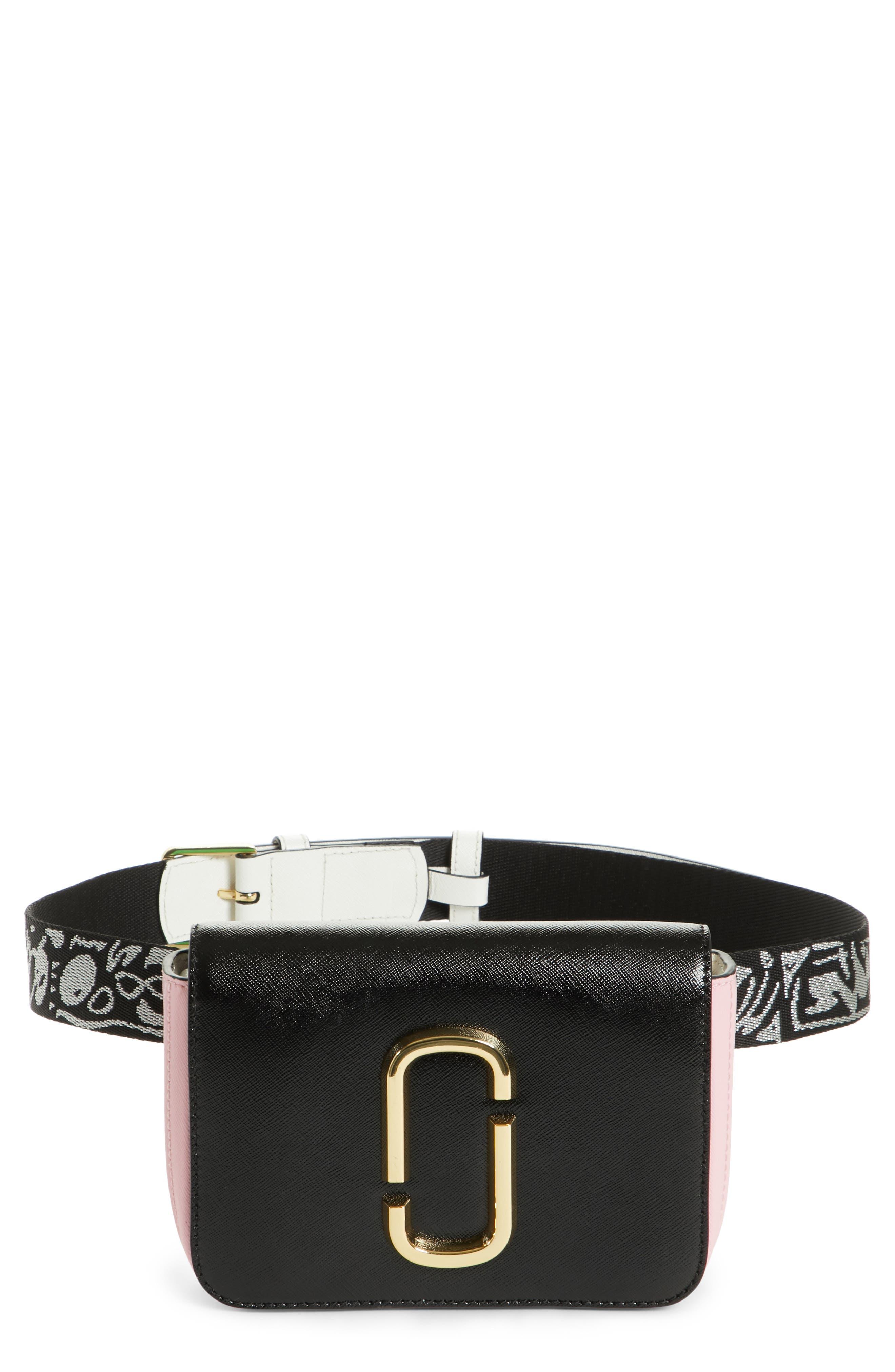 Hip Shot Convertible Crossbody Bag,                             Main thumbnail 1, color,                             BLACK/ BABY PINK