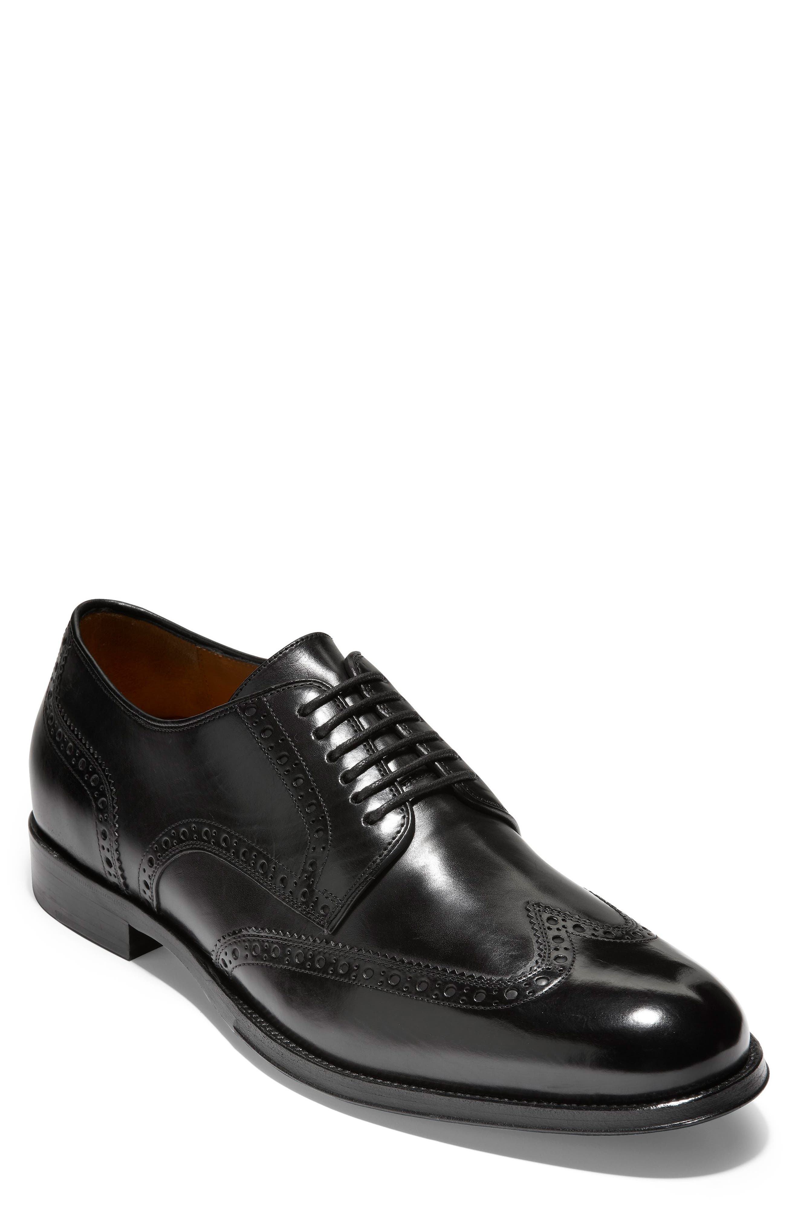 American Classics Grammercy Wingtip,                             Main thumbnail 1, color,                             BLACK LEATHER