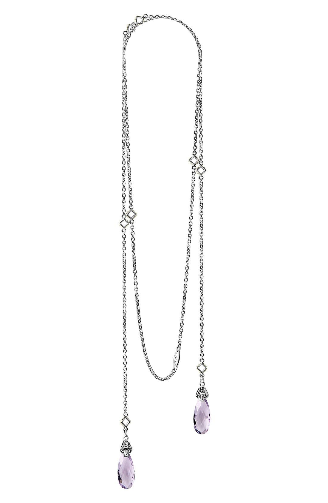 'Caviar Color' Semiprecious Stone Lariat Necklace,                         Main,                         color, 500