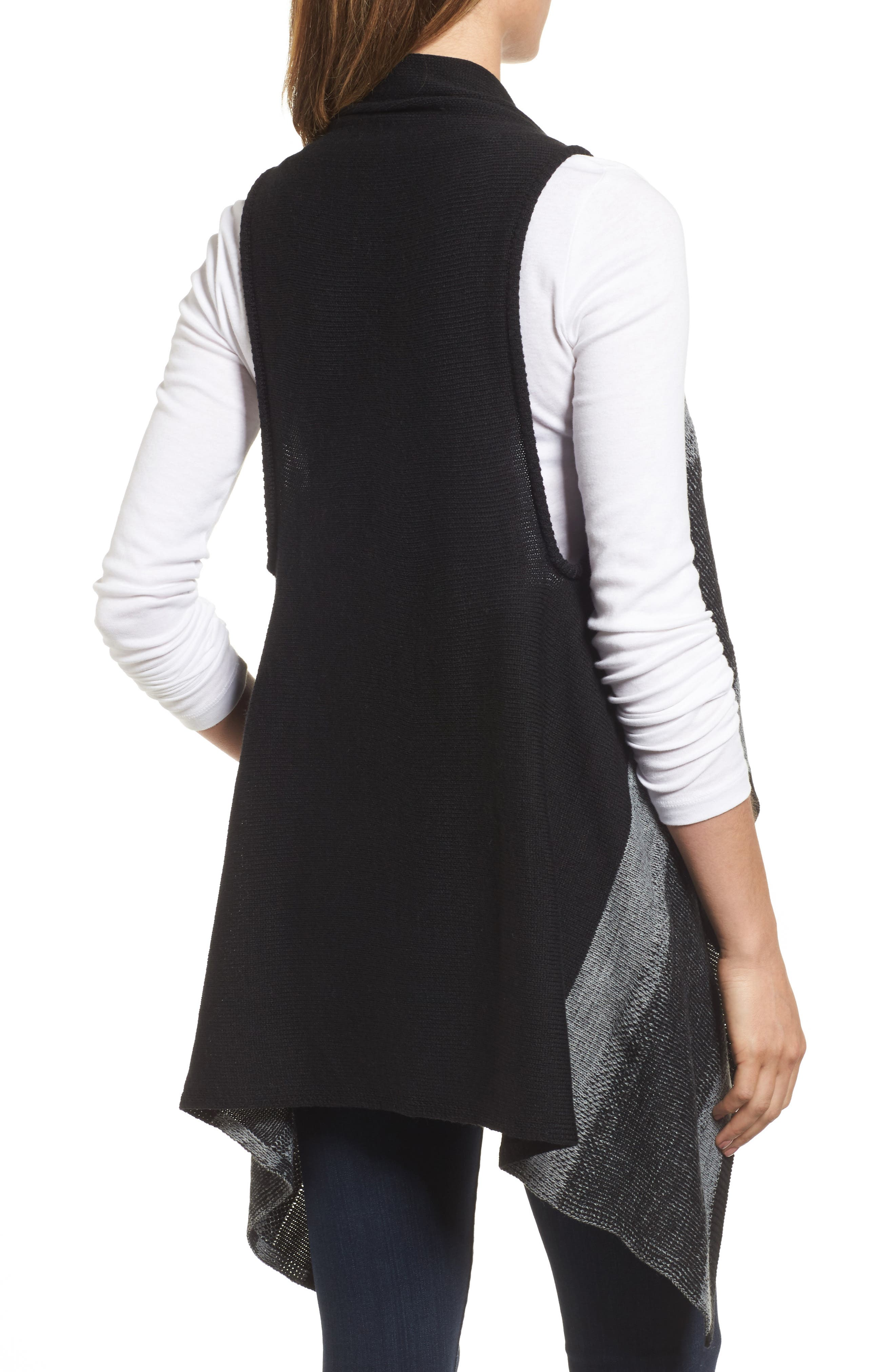 Faded Stripes Knit Vest,                             Alternate thumbnail 2, color,                             001