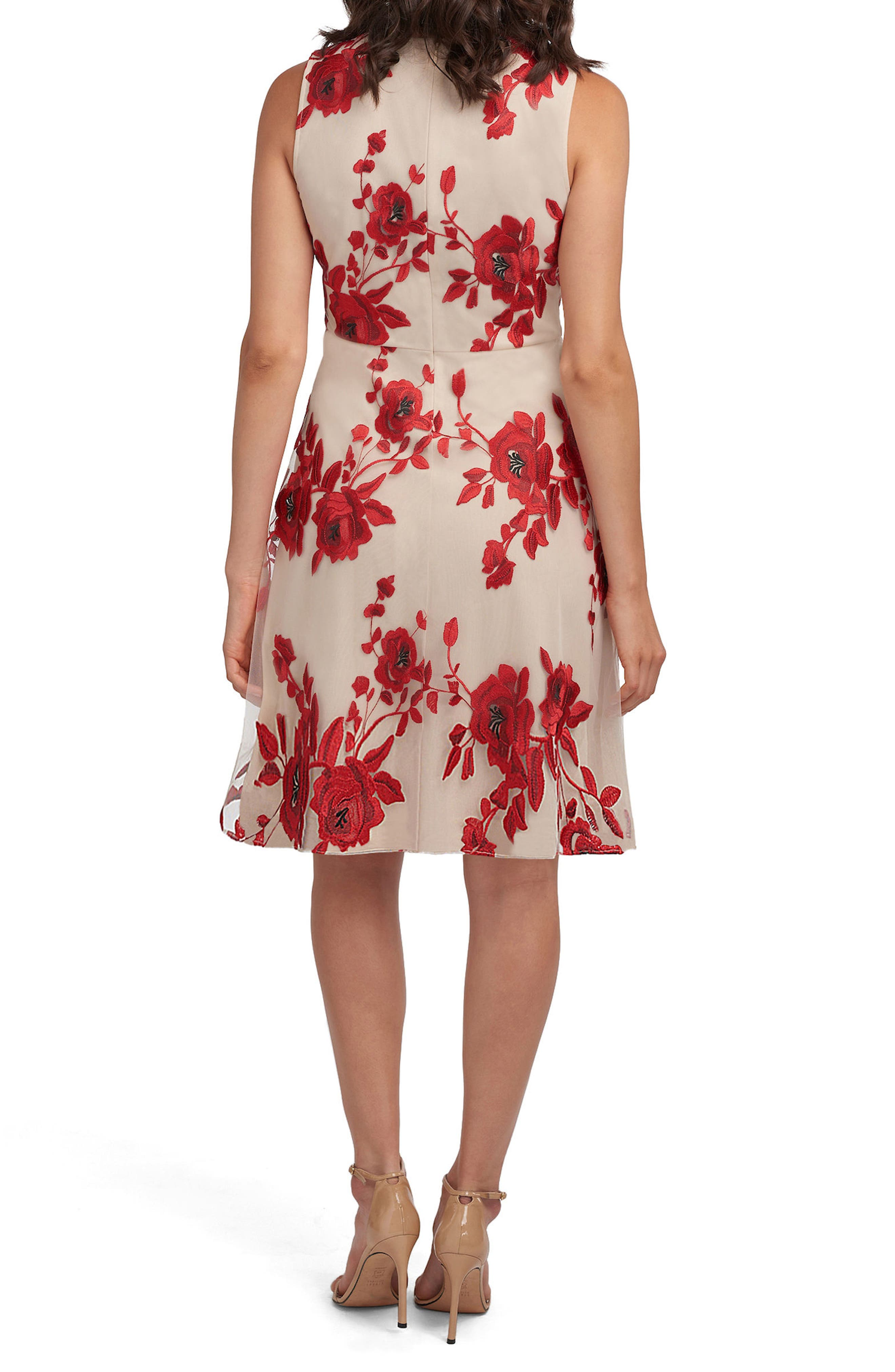 Embroidered Fit & Flare Dress,                             Alternate thumbnail 2, color,                             637