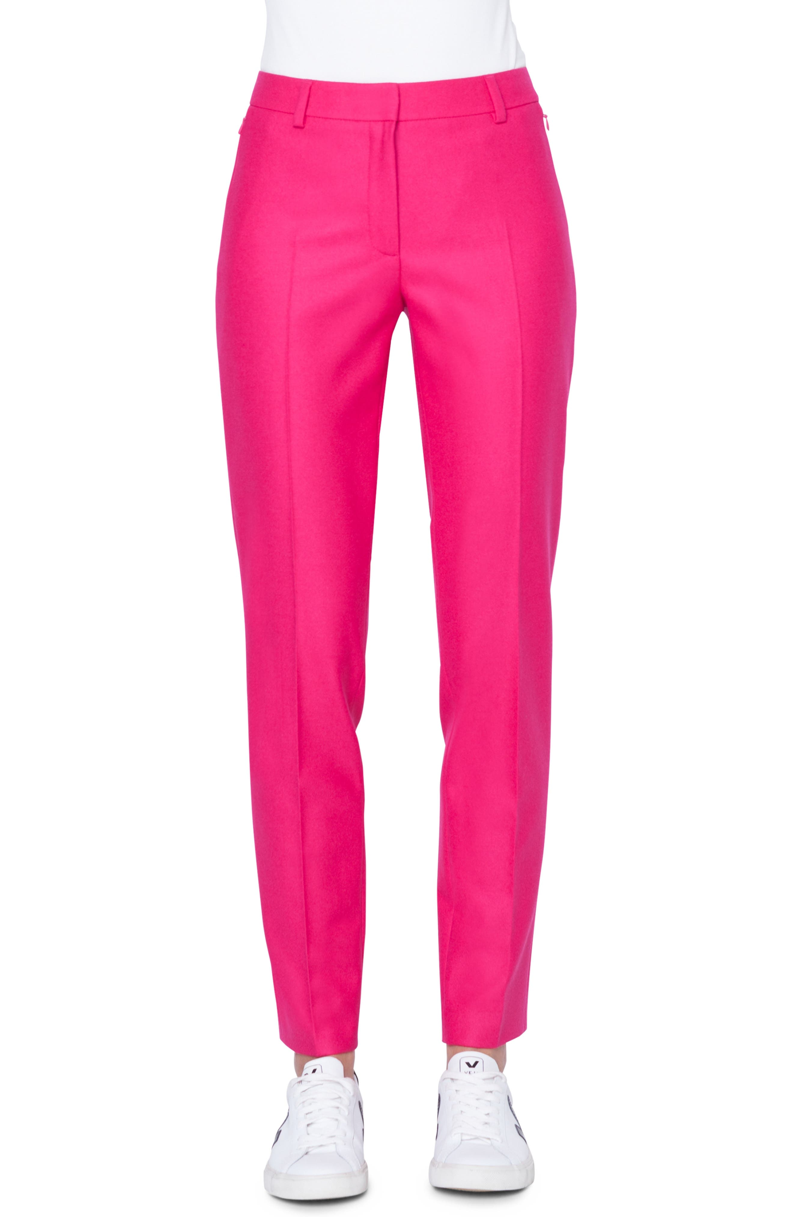 Melvin Stretch Wool Flannel Pants, Main, color, 067 PINK