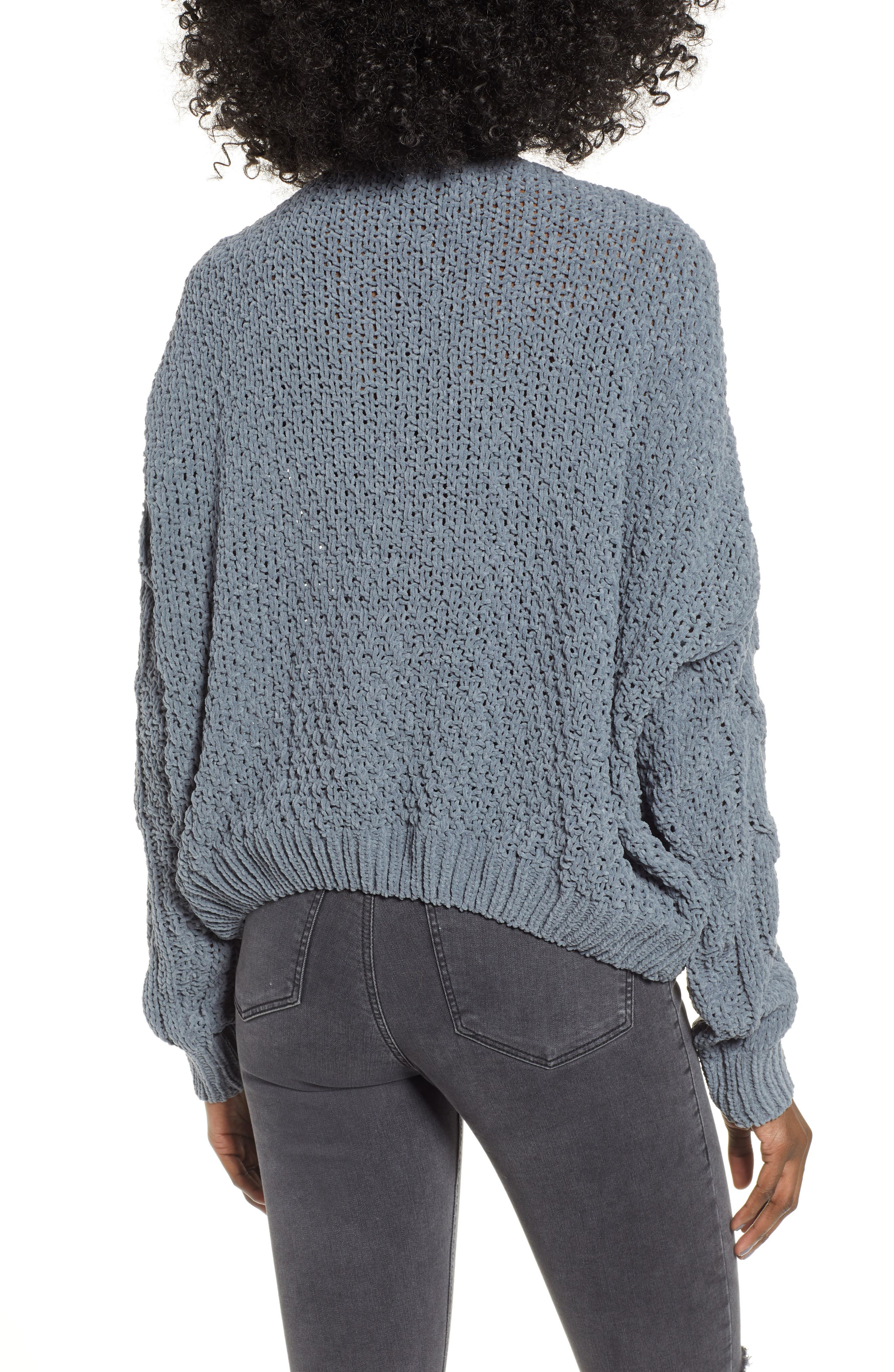 Cable Knit Sweater,                             Alternate thumbnail 2, color,                             GREY