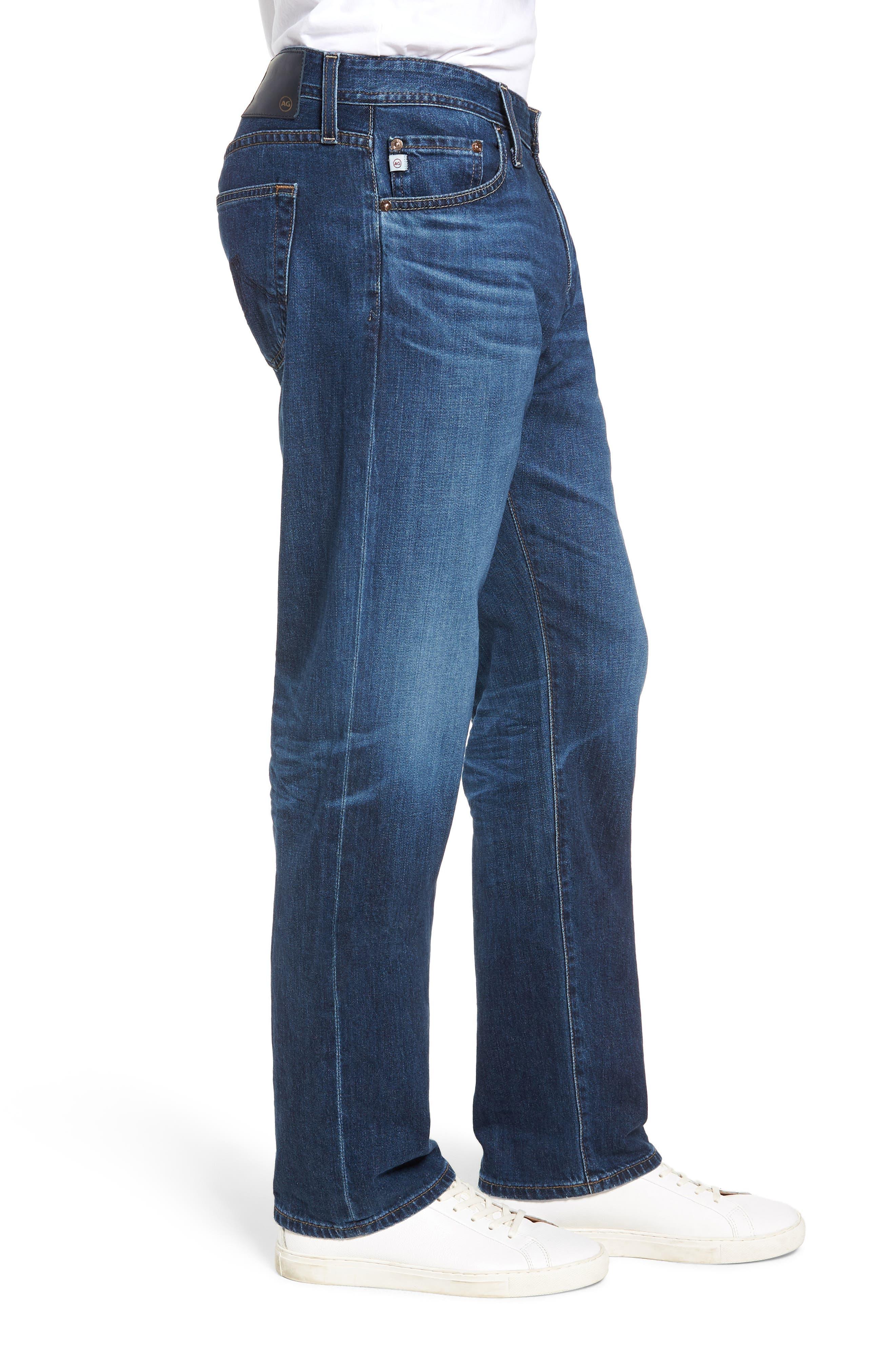 AG,                             Graduate Slim Straight Leg Jeans,                             Alternate thumbnail 3, color,                             7 YEAR CEASE