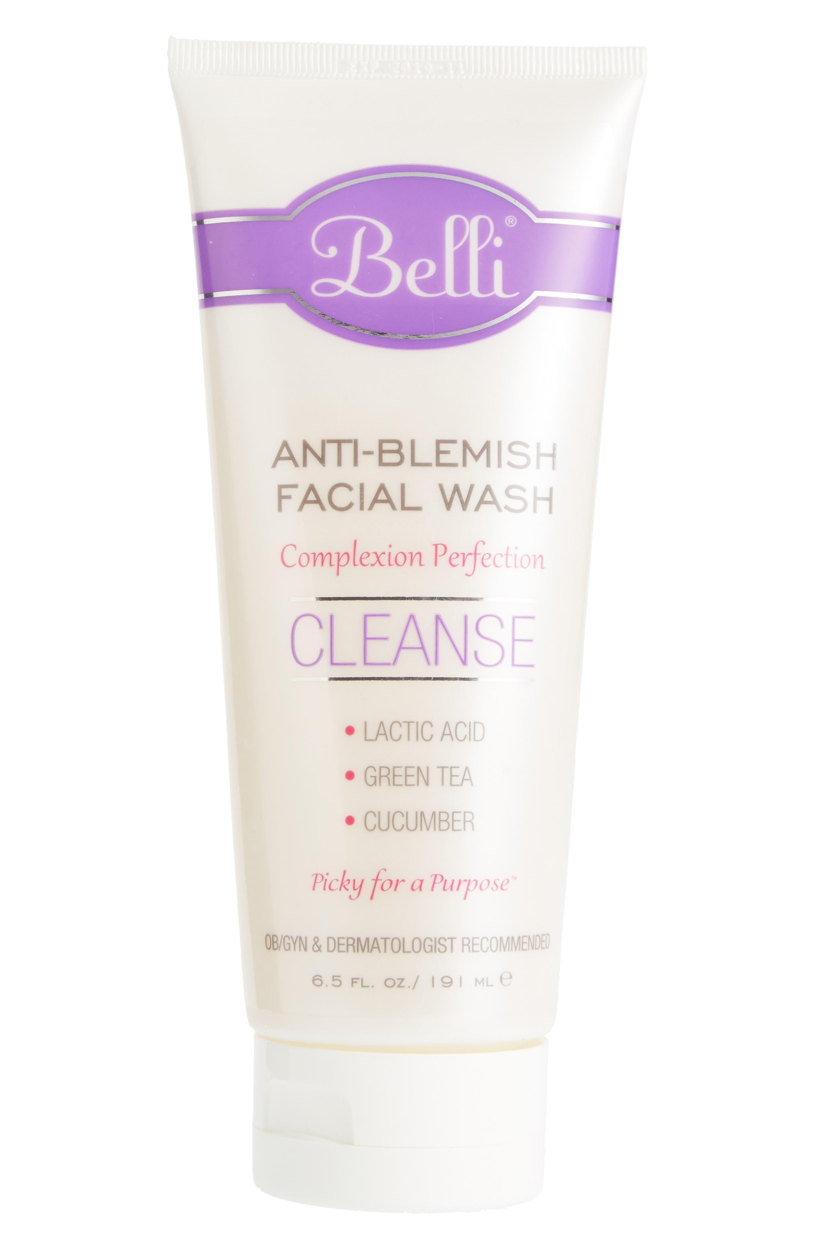 Anti-Blemish Facial Wash,                         Main,                         color, WHITE