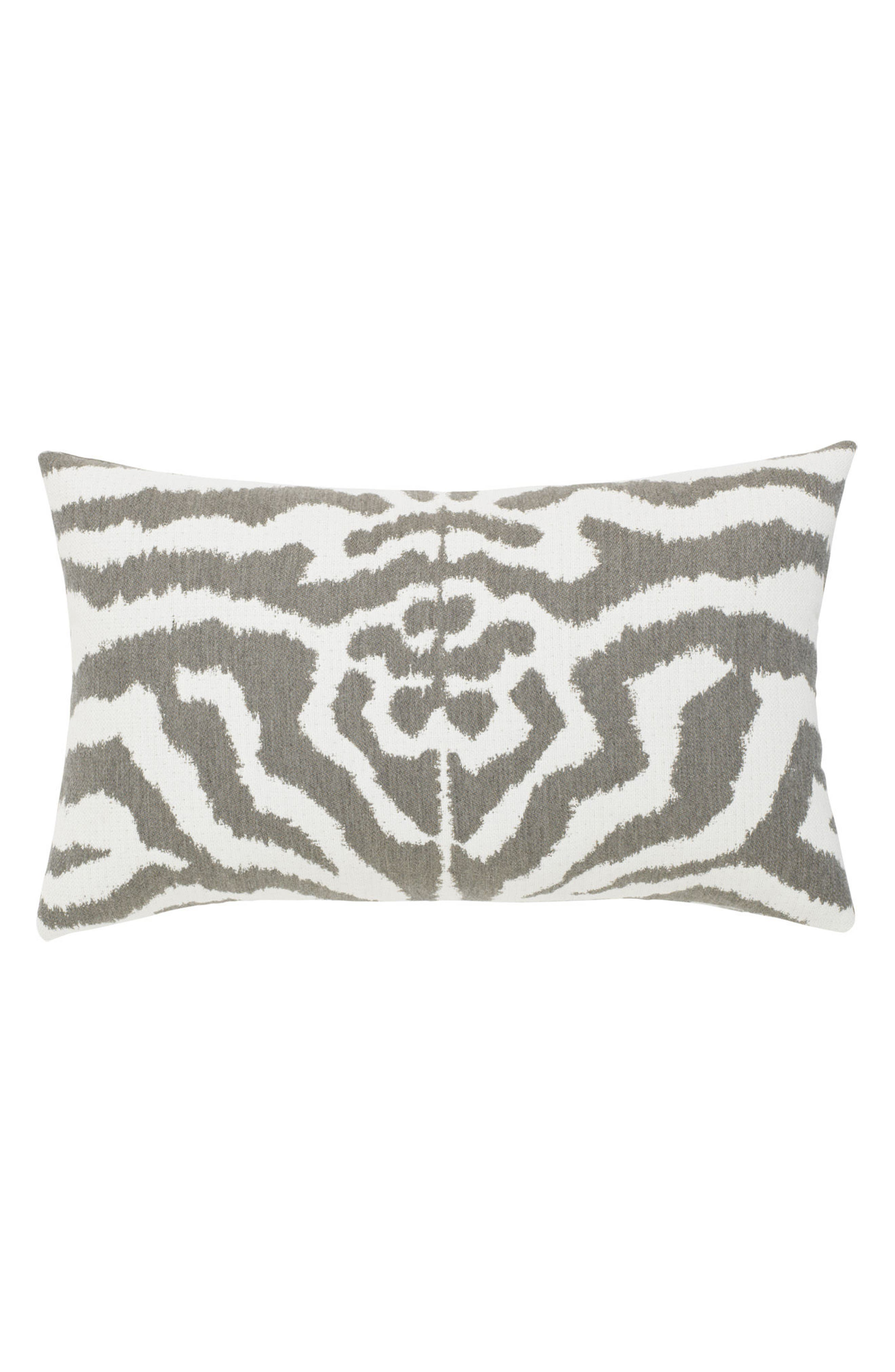 Zebra Gray Indoor/Outdoor Accent Pillow,                             Alternate thumbnail 2, color,                             GRAY WHITE