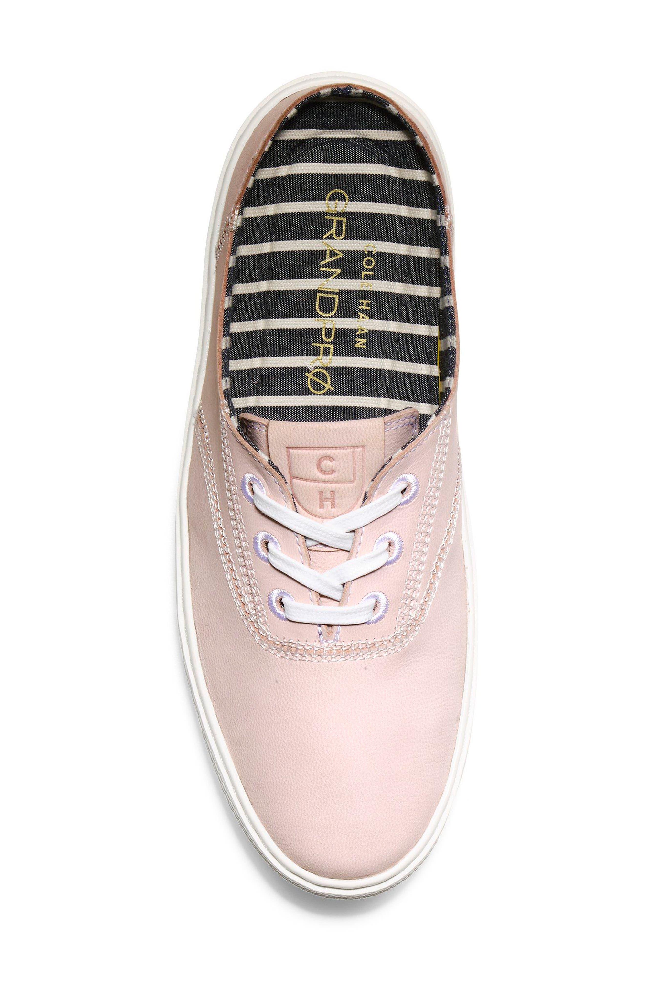 GrandPro Deck Sneaker,                             Alternate thumbnail 5, color,                             PETAL/ OPTIC WHITE NUBUCK