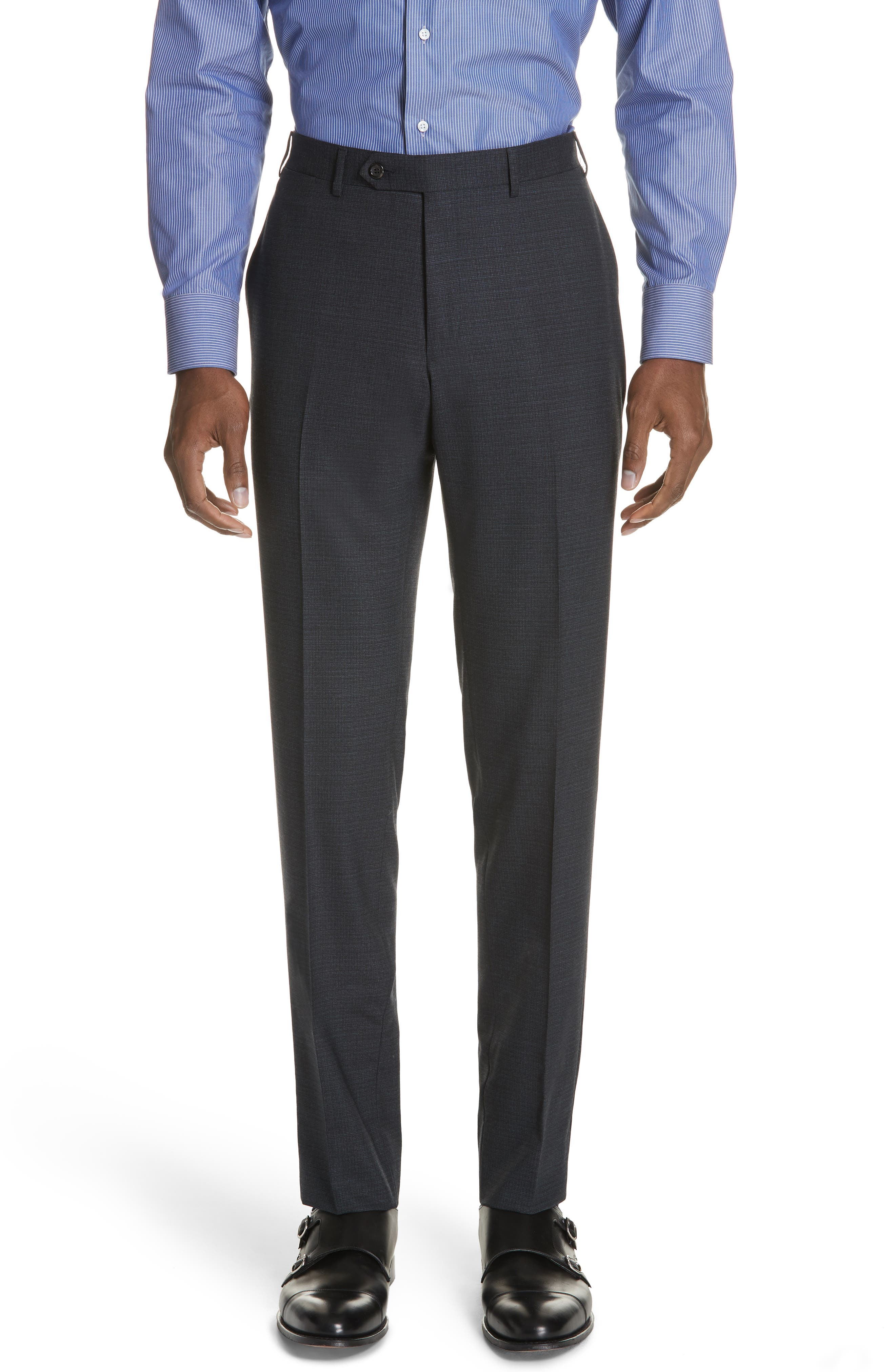 CANALI,                             Classic Fit Stretch Check Wool Suit,                             Alternate thumbnail 5, color,                             400