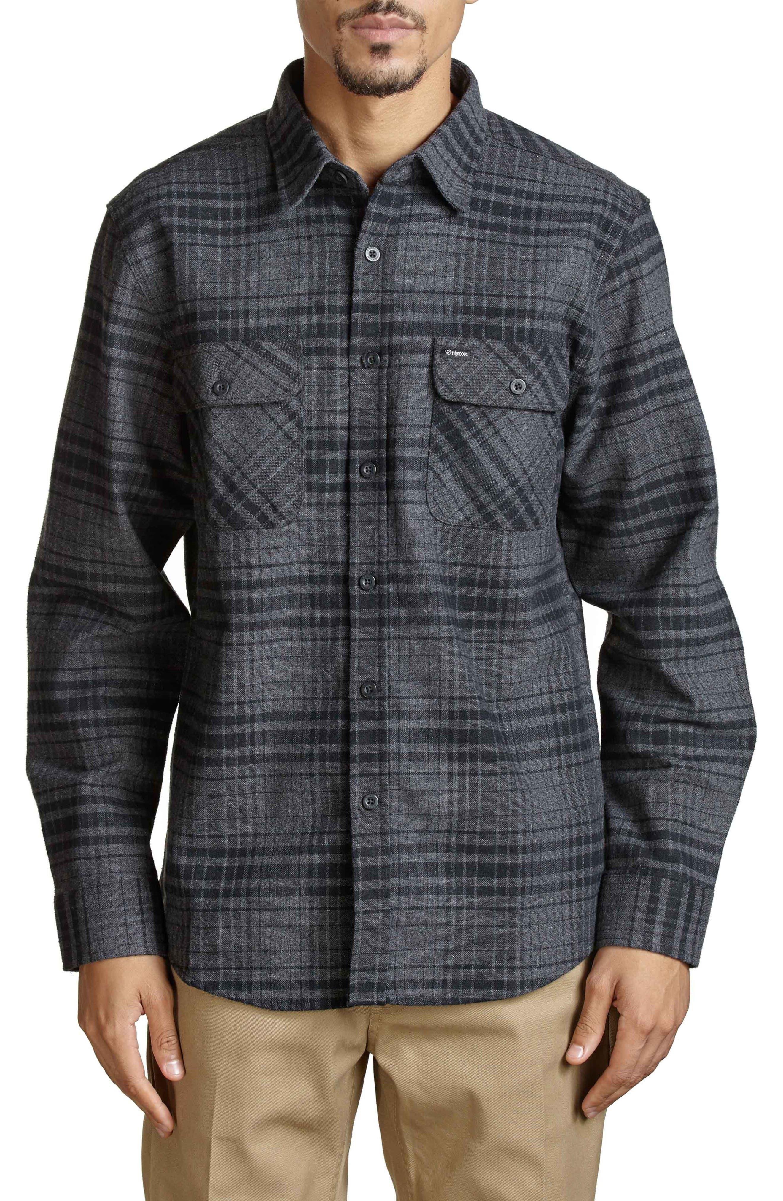 Bowery Flannel Shirt,                             Main thumbnail 2, color,