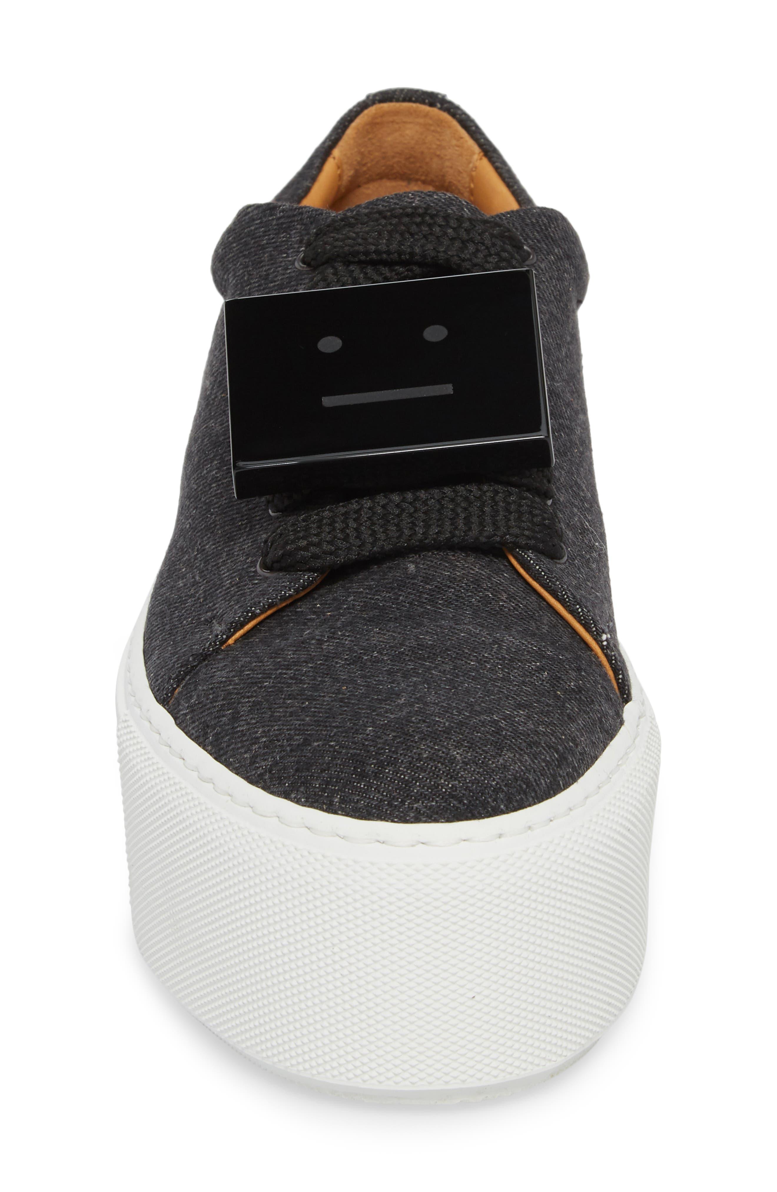 Drihanna Denim Platform Sneaker,                             Alternate thumbnail 4, color,                             001