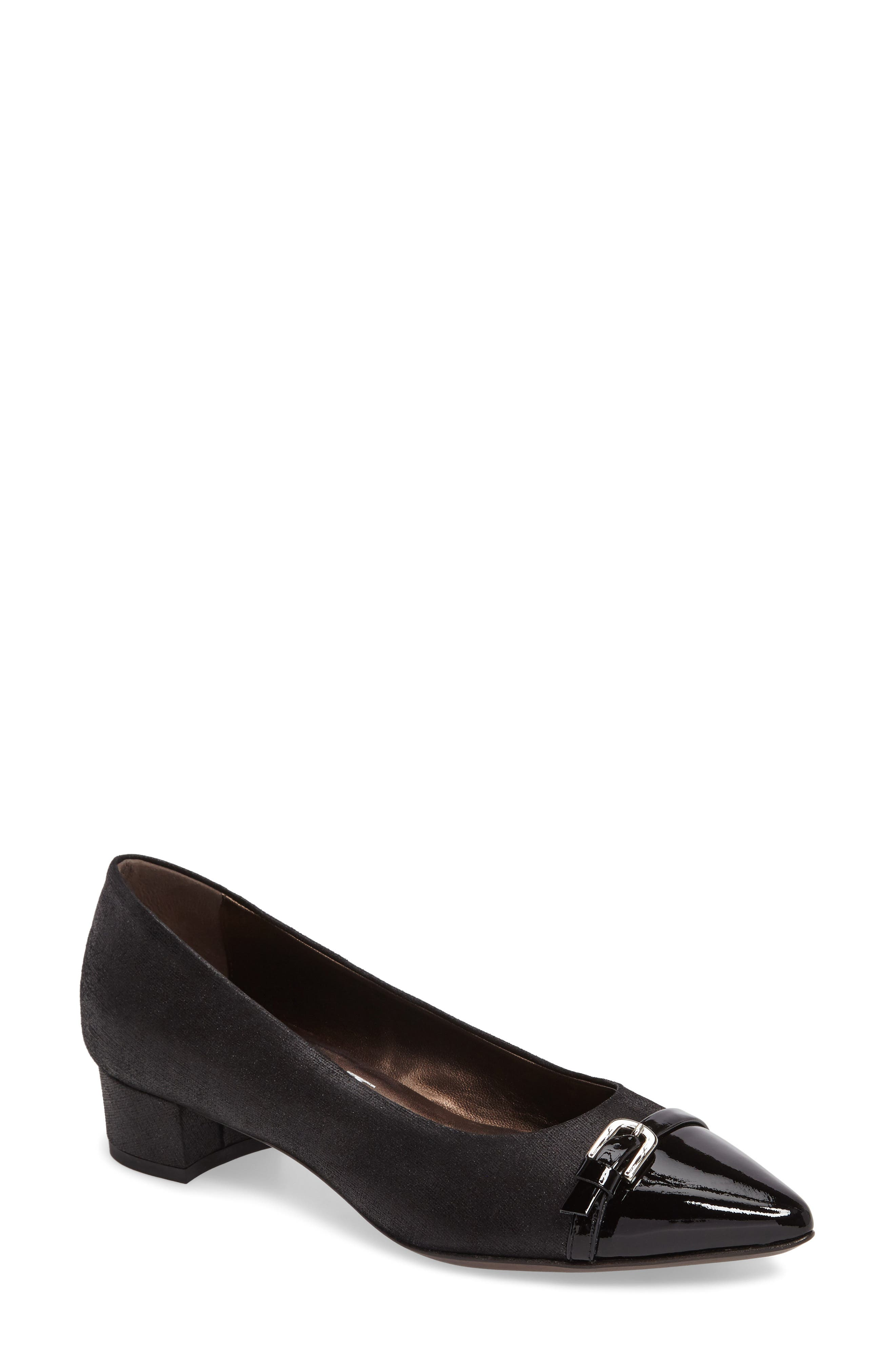 Belted Block Heel Pump,                         Main,                         color, 001