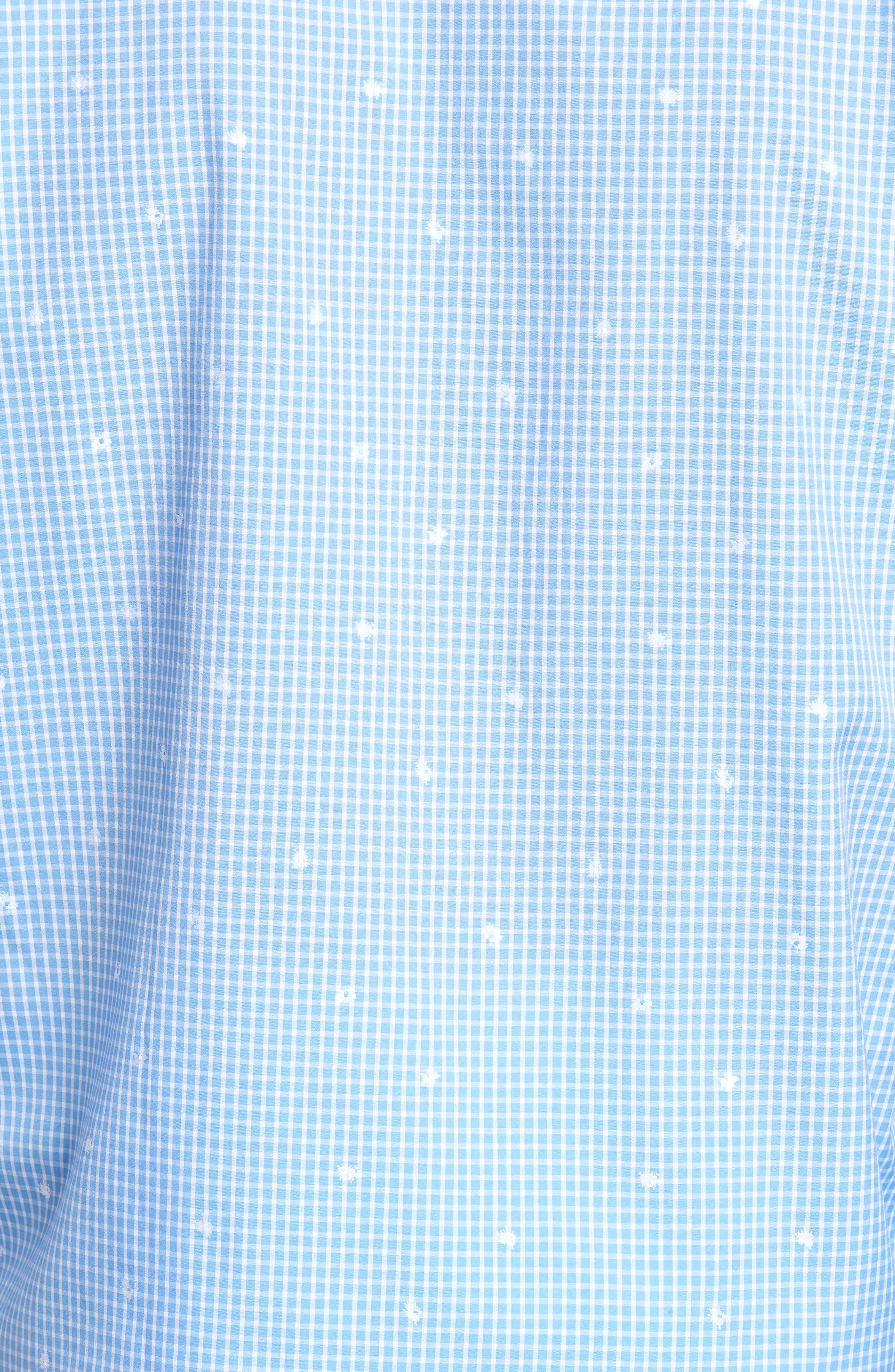 Classic Fit Windowpane Sport Shirt,                             Alternate thumbnail 5, color,