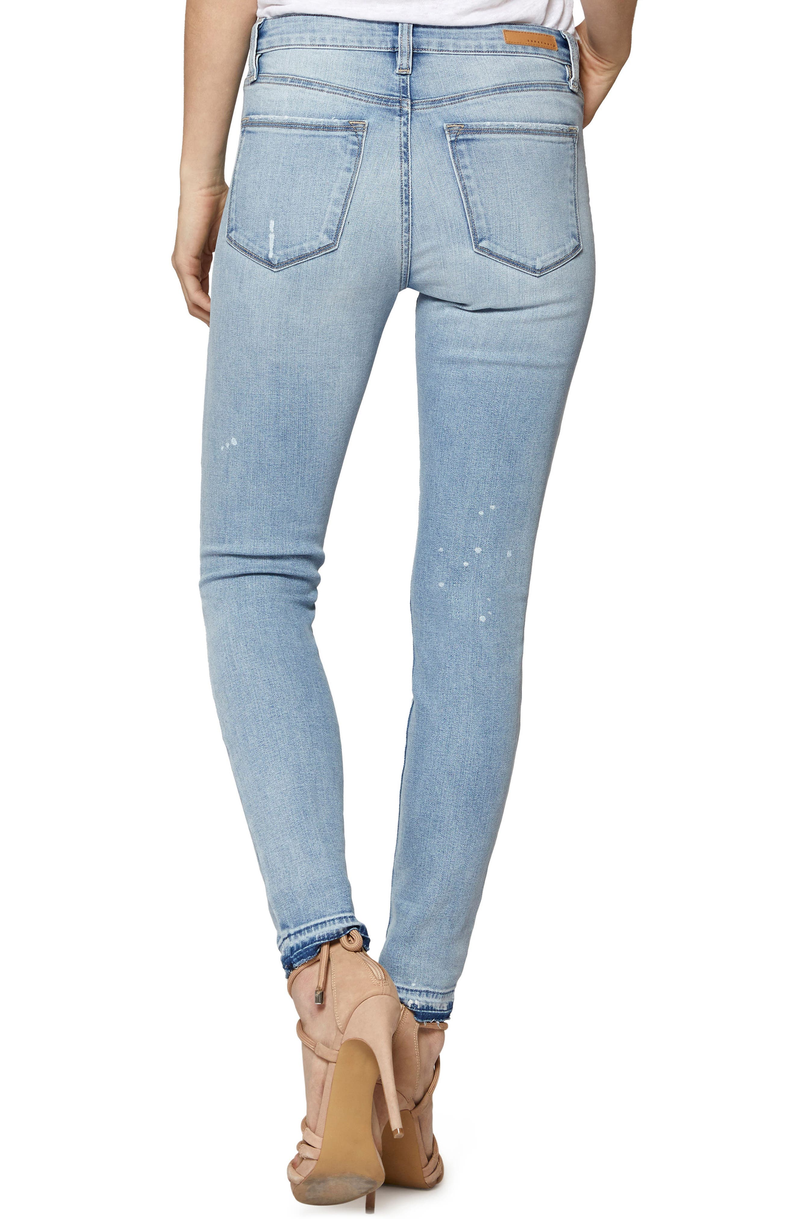 Saige Release Hem Jeans,                             Alternate thumbnail 2, color,