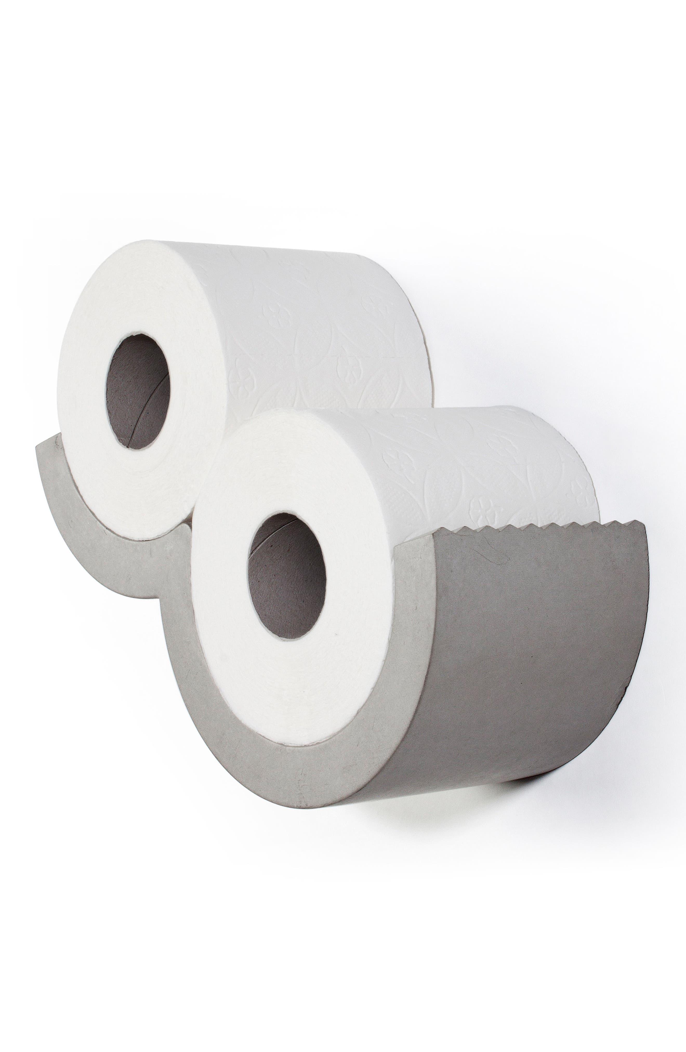 Lyon Béton Extra Small Cloud Toilet Paper Holder,                             Alternate thumbnail 4, color,                             CEMENT