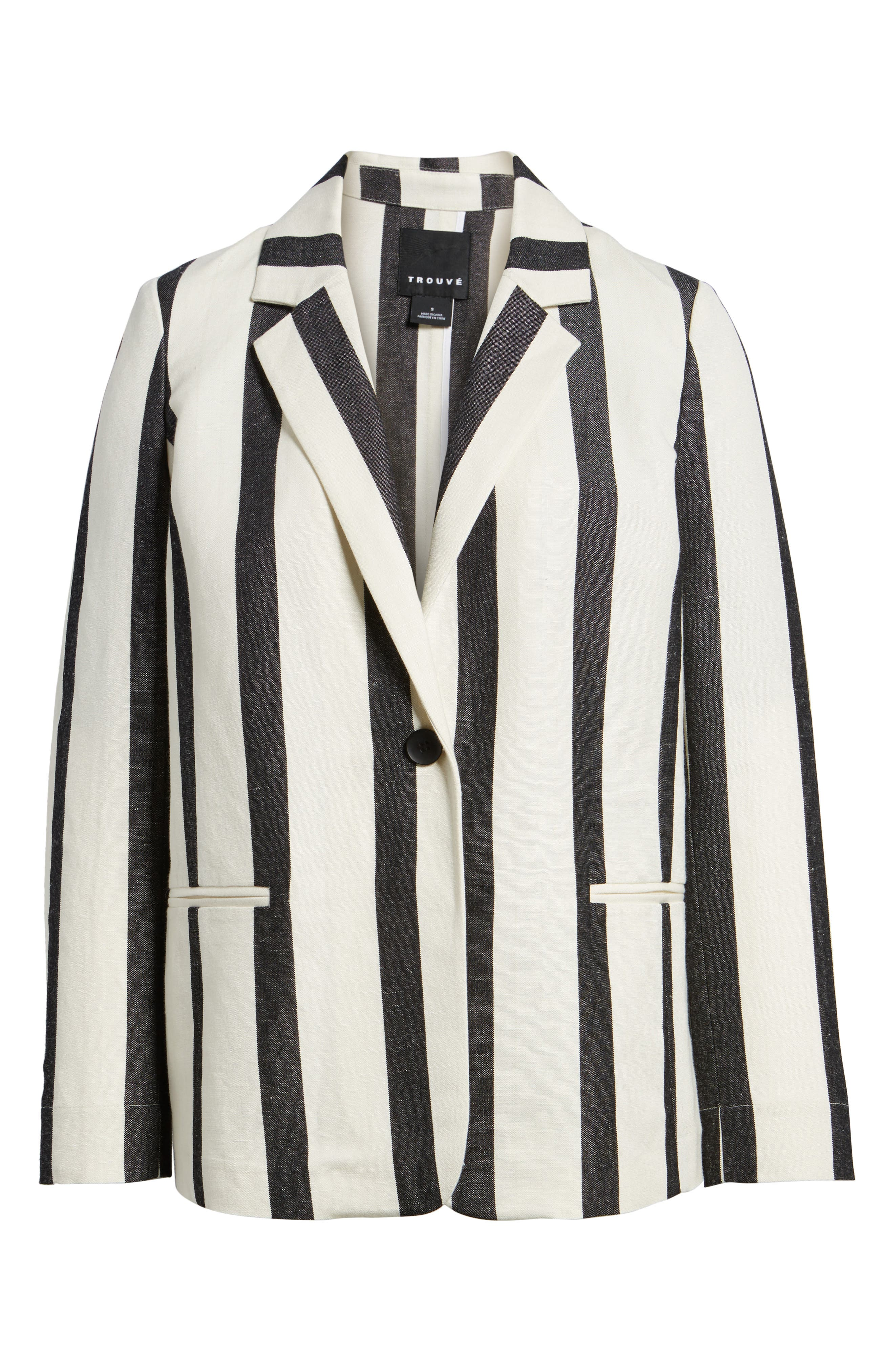 Stripe Blazer,                             Alternate thumbnail 5, color,
