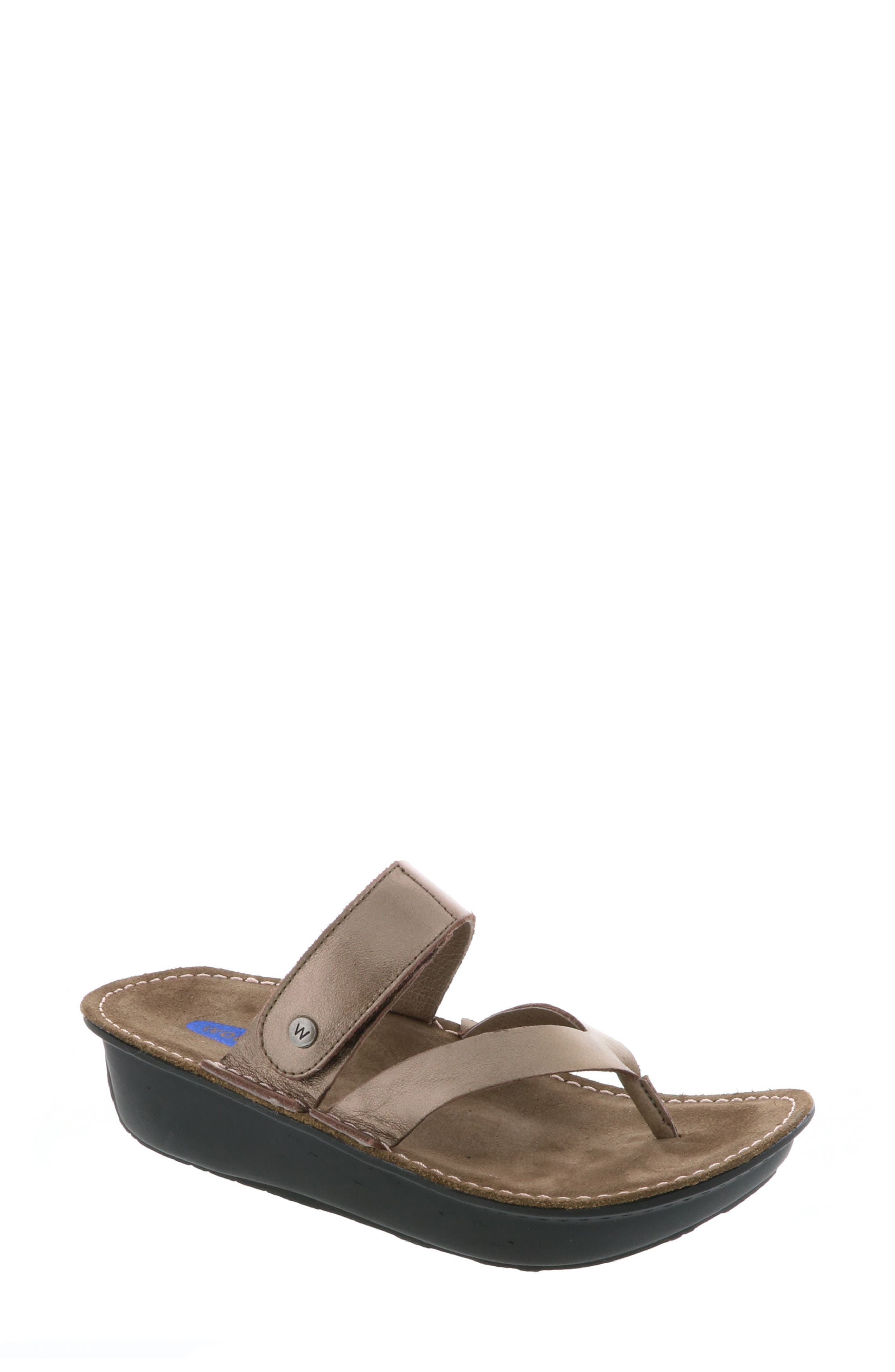 Tahiti Platform Sandal,                             Main thumbnail 1, color,                             BRONZE METALLIC