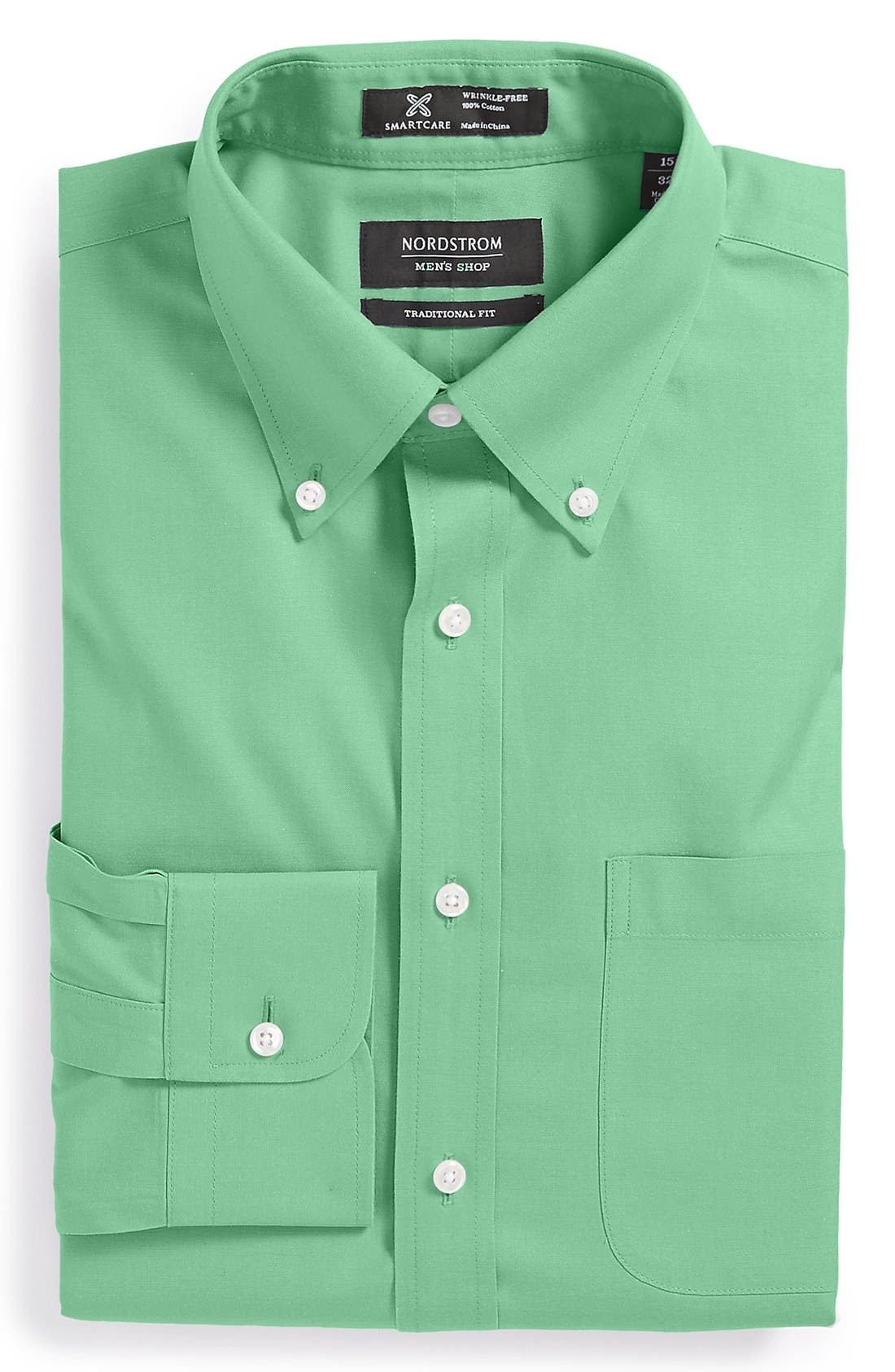 Smartcare<sup>™</sup> Traditional Fit Pinpoint Dress Shirt,                             Main thumbnail 15, color,