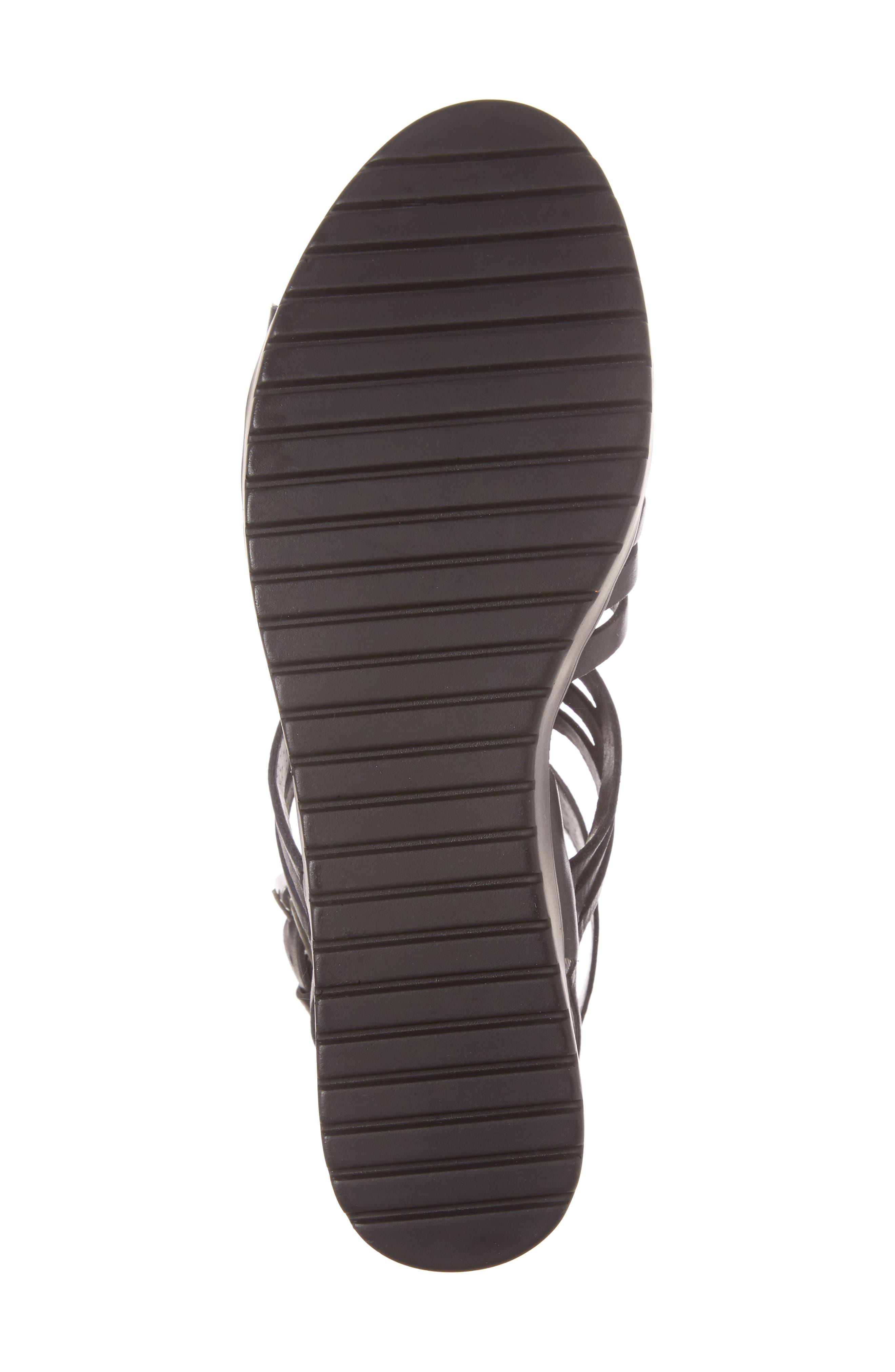 Ronnie Gladiator Platform Sandal,                             Alternate thumbnail 6, color,                             001