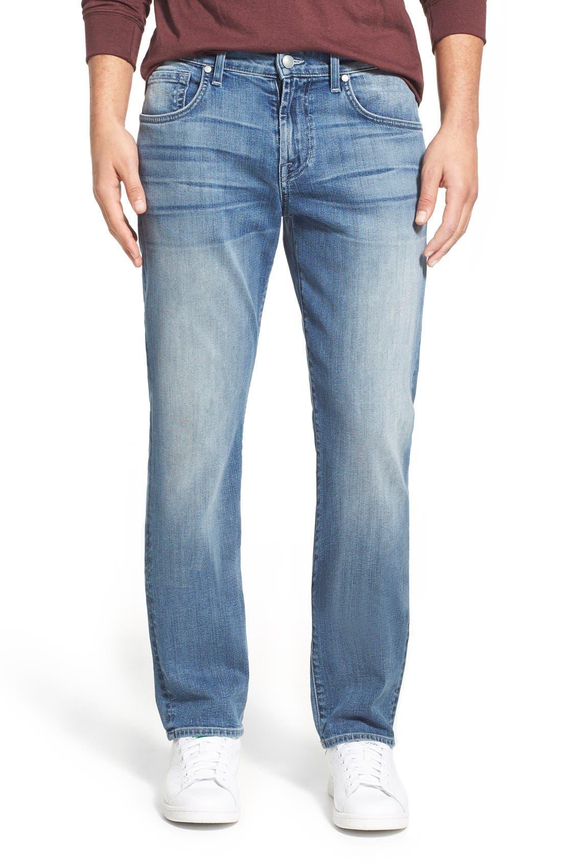 'Straight - FoolProof' Slim Straight Leg Jeans,                             Main thumbnail 1, color,                             402