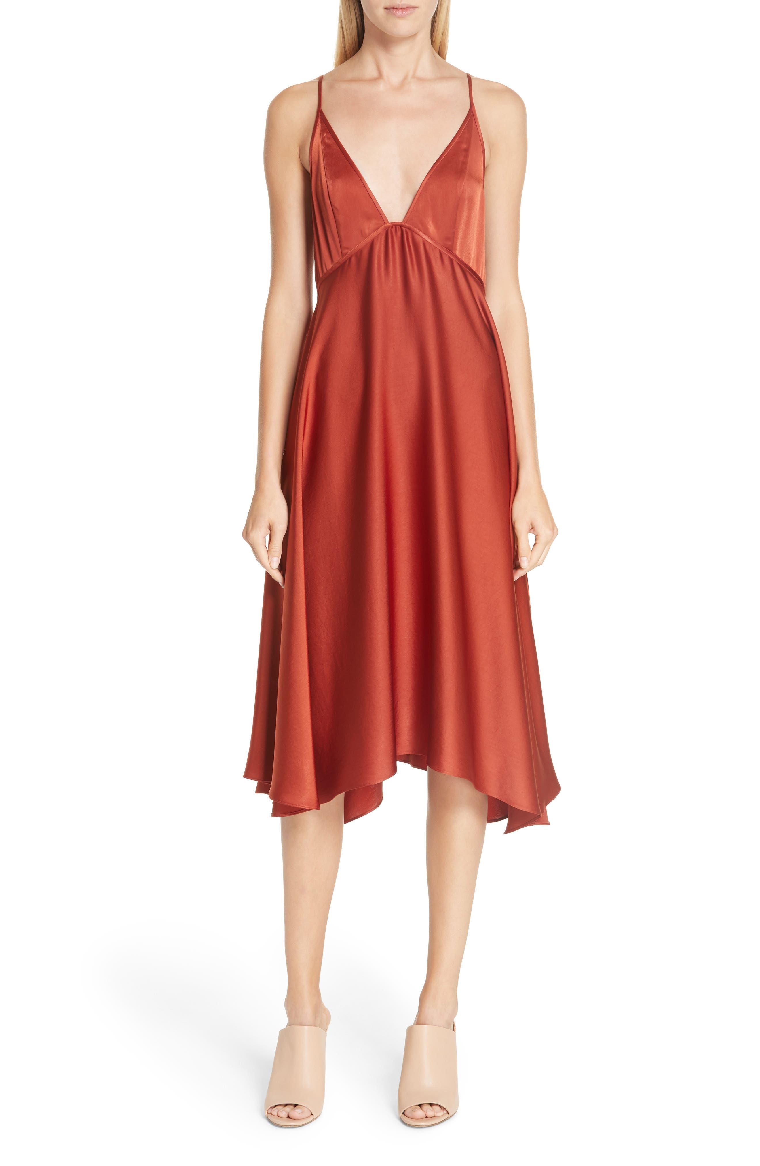 A.l.c. Sloane Satin Babydoll Dress