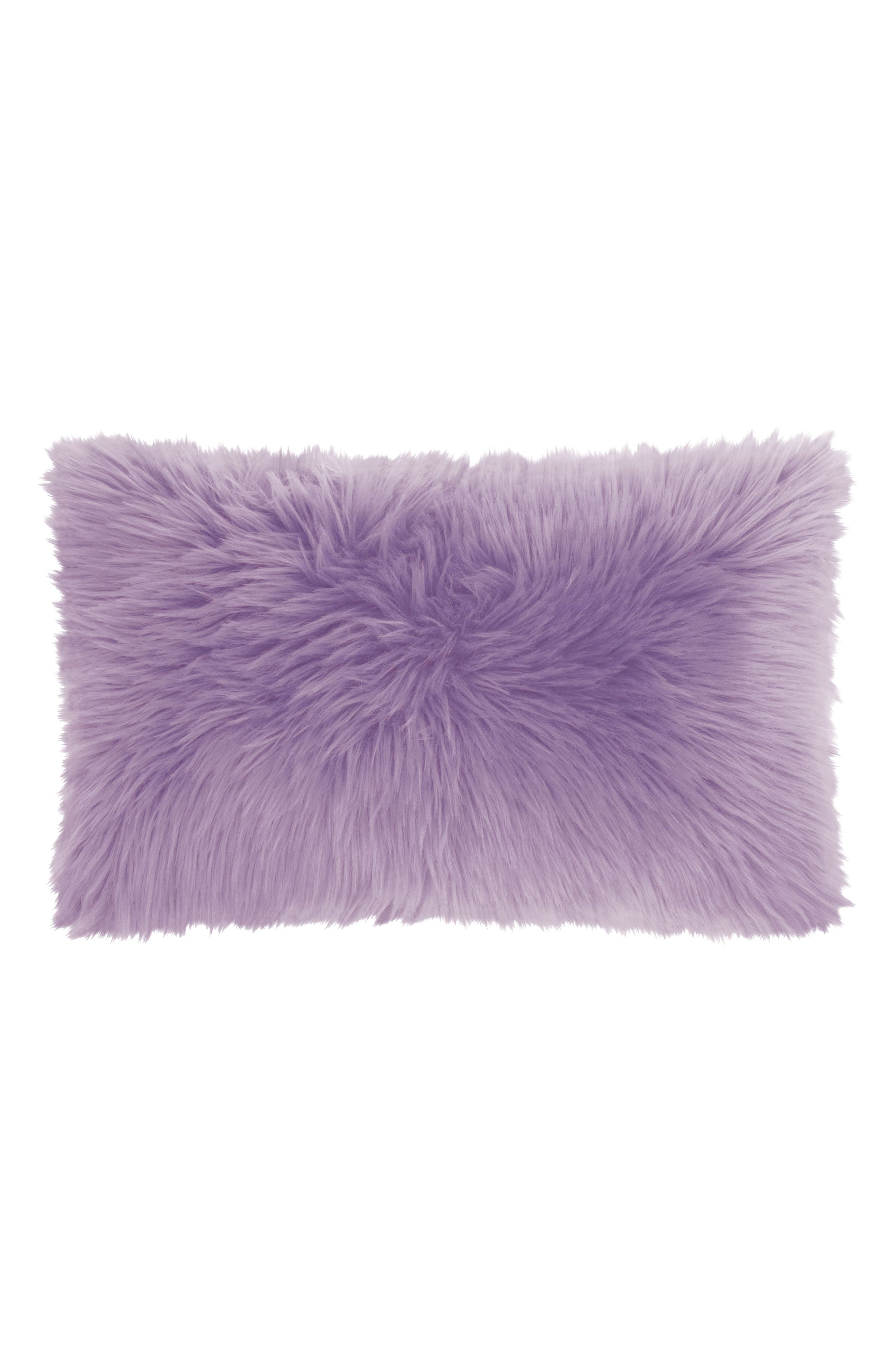 Faux Fur Pillow,                             Main thumbnail 1, color,                             540