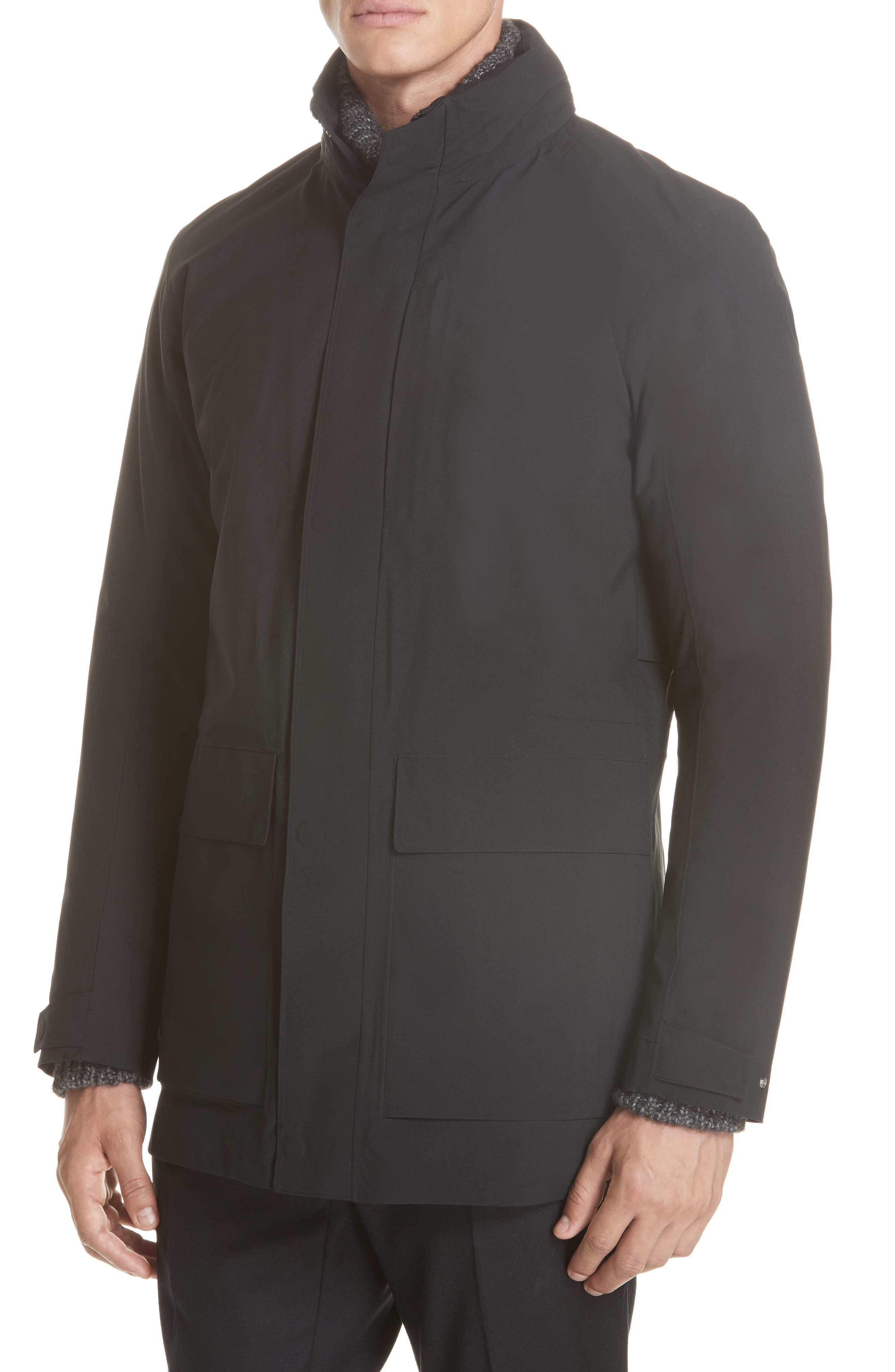 Z Zenga Trim Fit 3-in-1 Jacket,                             Alternate thumbnail 5, color,                             BLACK