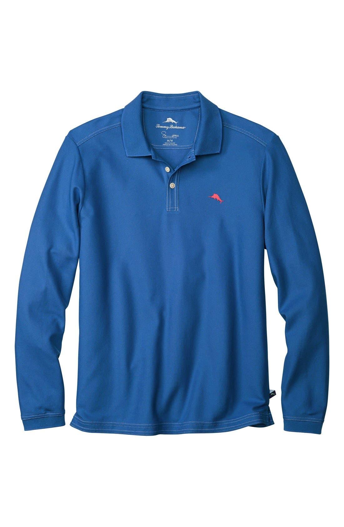 Emfielder Long Sleeve Polo,                             Main thumbnail 10, color,