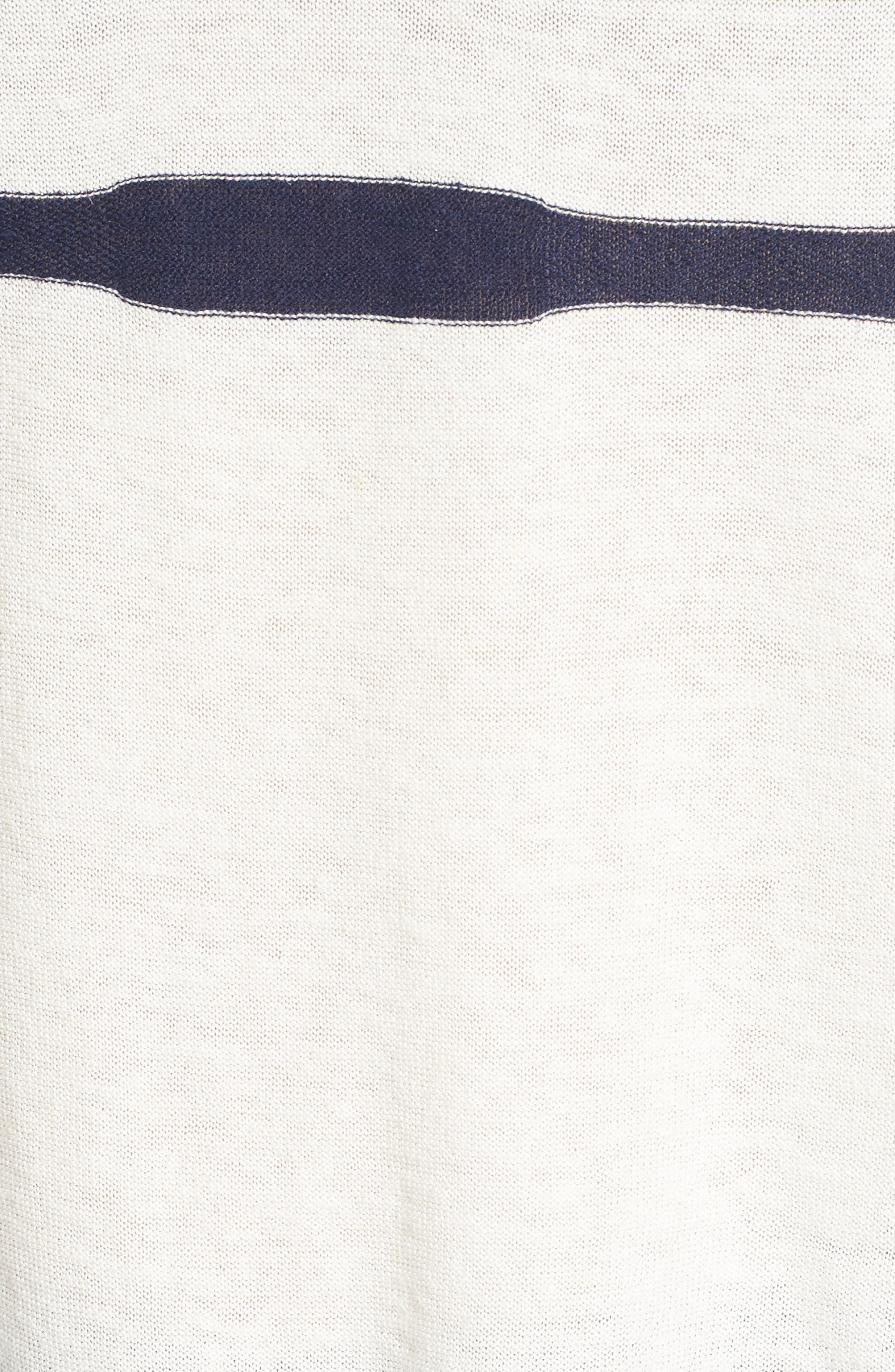 Stripe Linen & Cotton Sweater,                             Alternate thumbnail 5, color,                             020