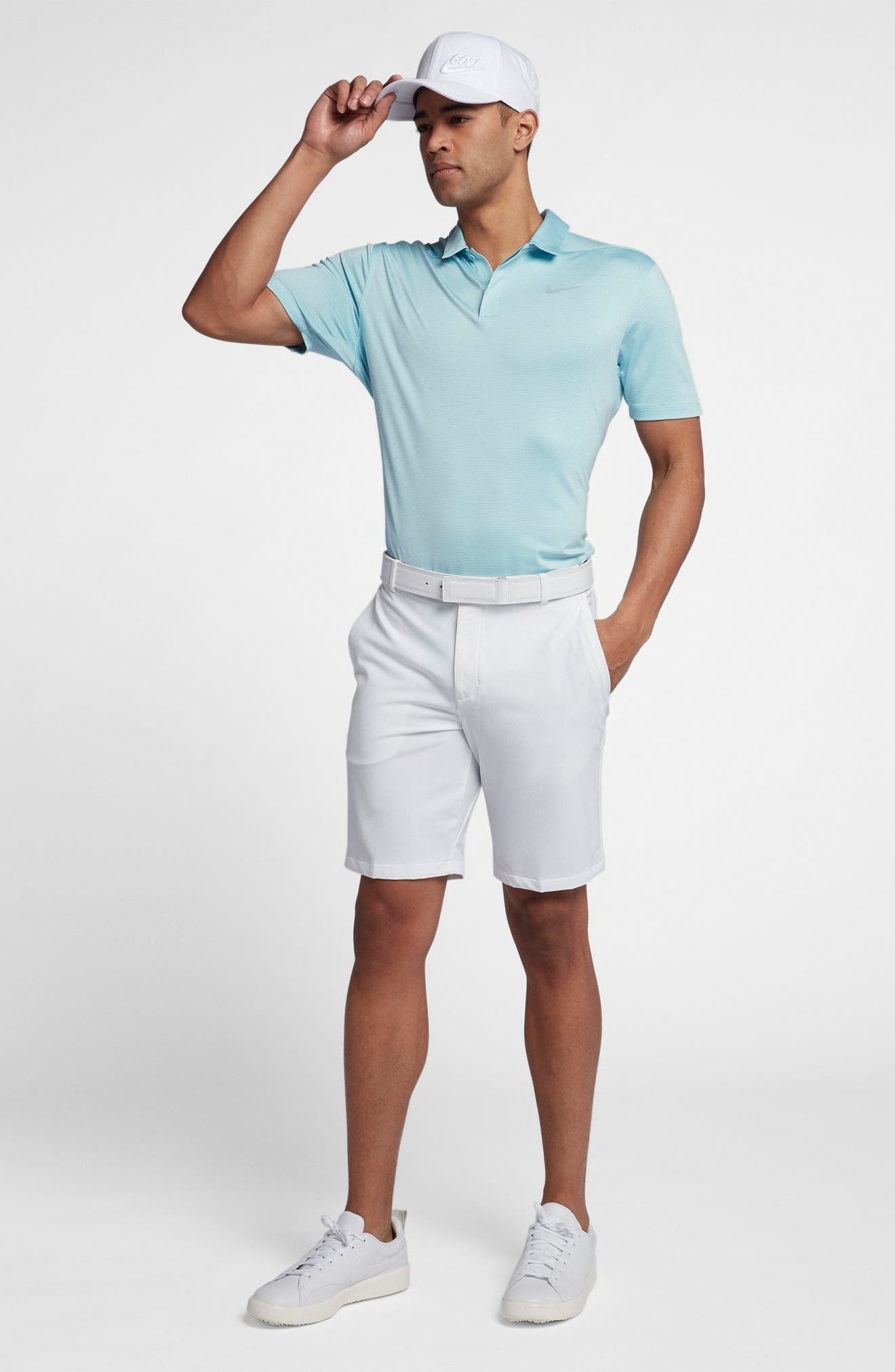 Dry Polo Shirt,                             Alternate thumbnail 8, color,                             OCEAN BLISS/ SILVER