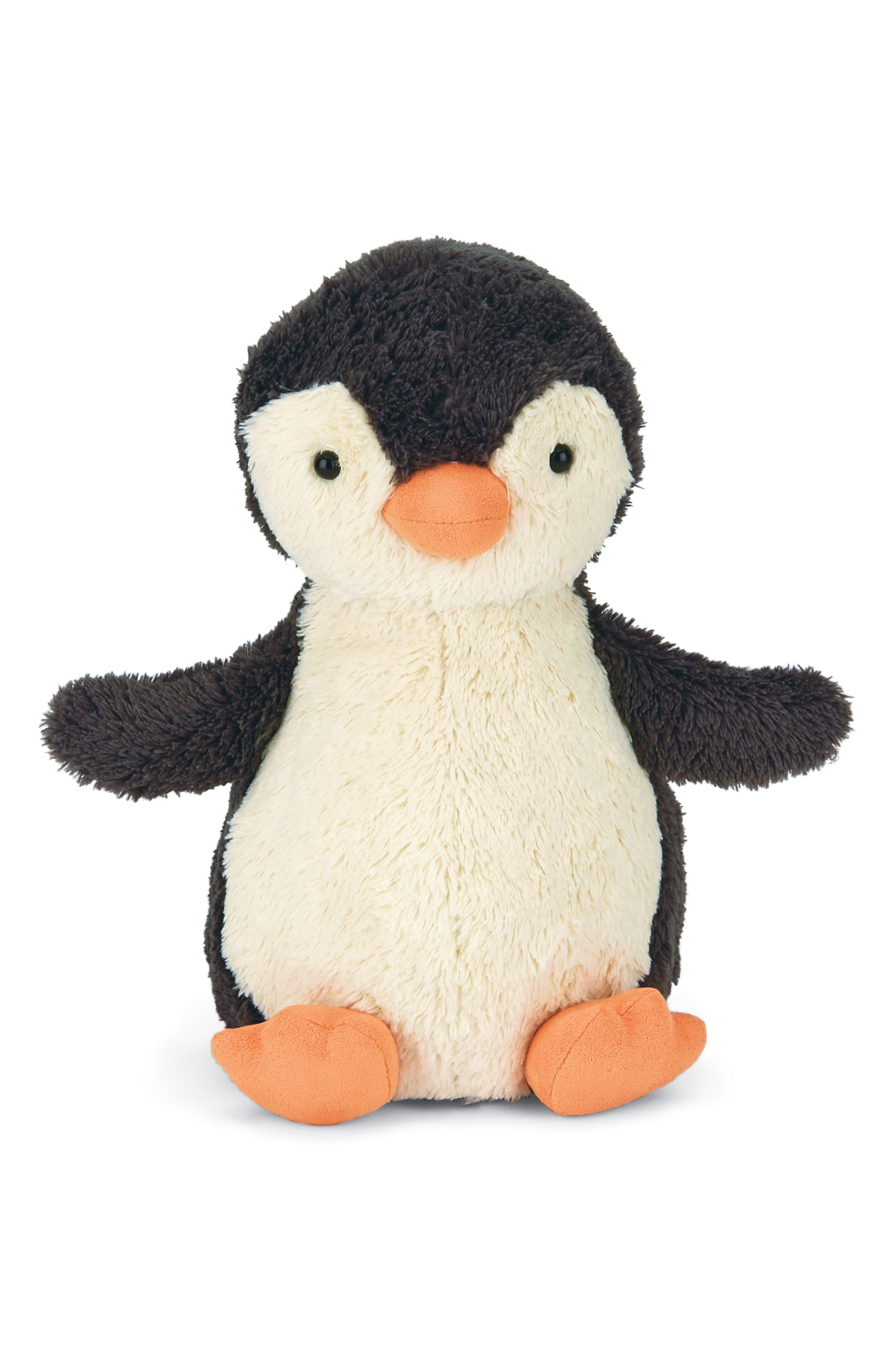 Medium Pippet Penguin Stuffed Animal,                             Main thumbnail 1, color,                             BLACK / WHITE