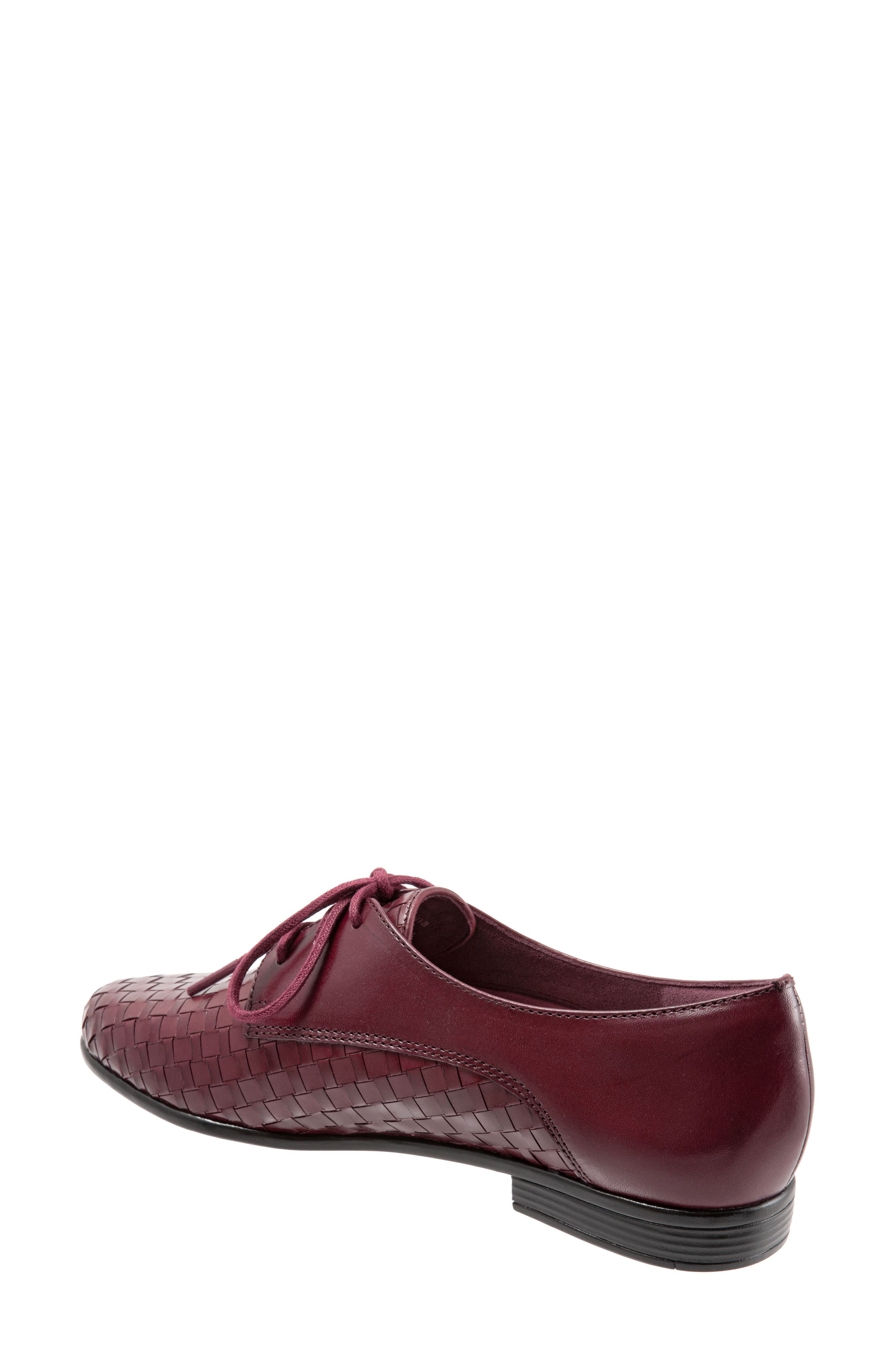 Lizzie Derby Flat,                             Alternate thumbnail 2, color,                             BLACK CHERRY LEATHER