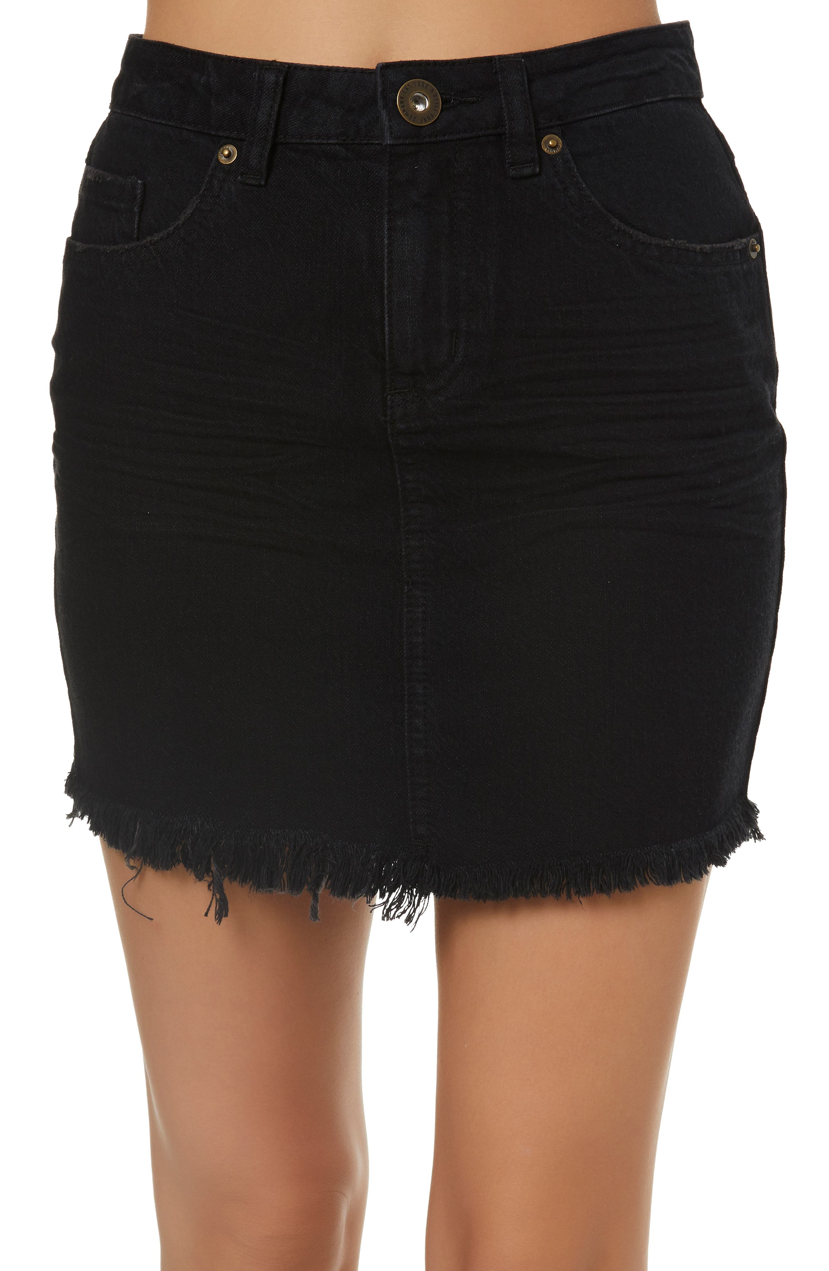 Jasmine Denim Skirt,                             Main thumbnail 1, color,                             001