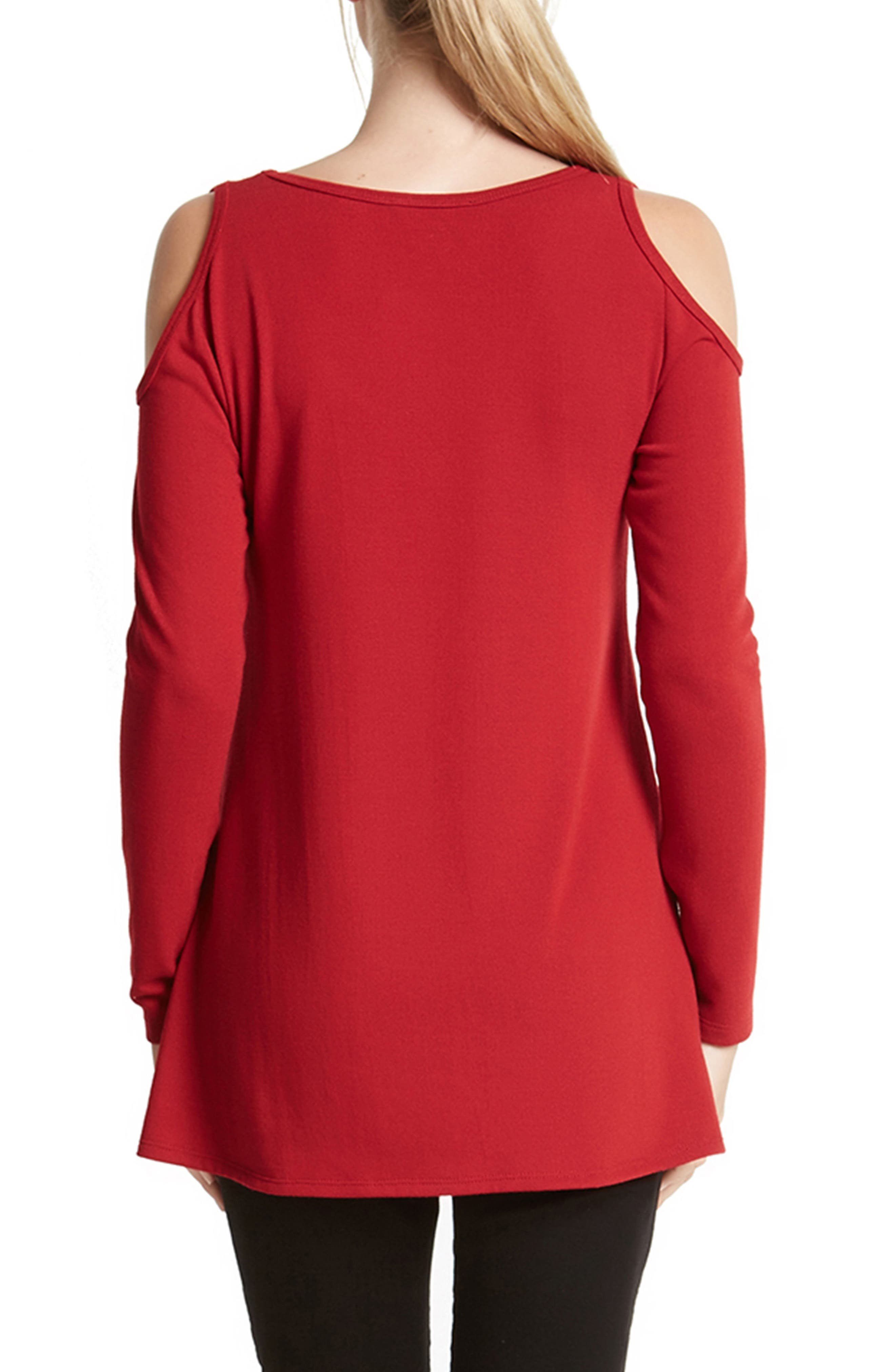 High/Low Cold Shoulder Sweater,                             Alternate thumbnail 7, color,