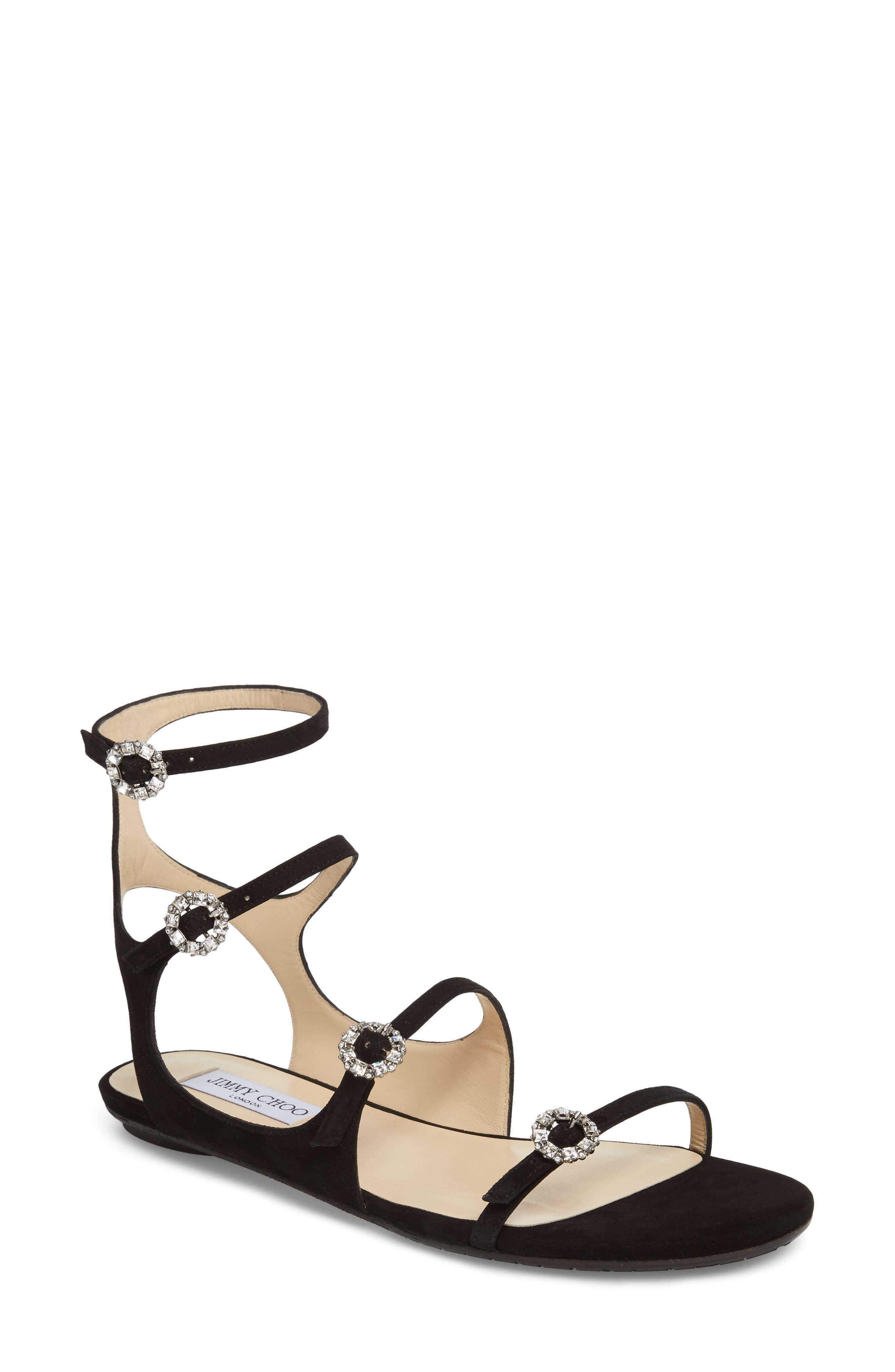 Naia Crystal Buckle Sandal,                         Main,                         color, 001