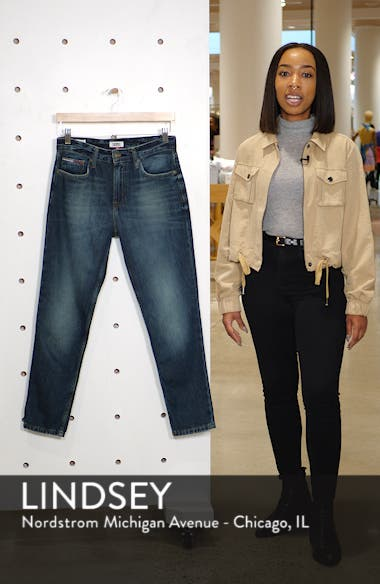 Izzy High Waist Slim Crop Jeans, sales video thumbnail