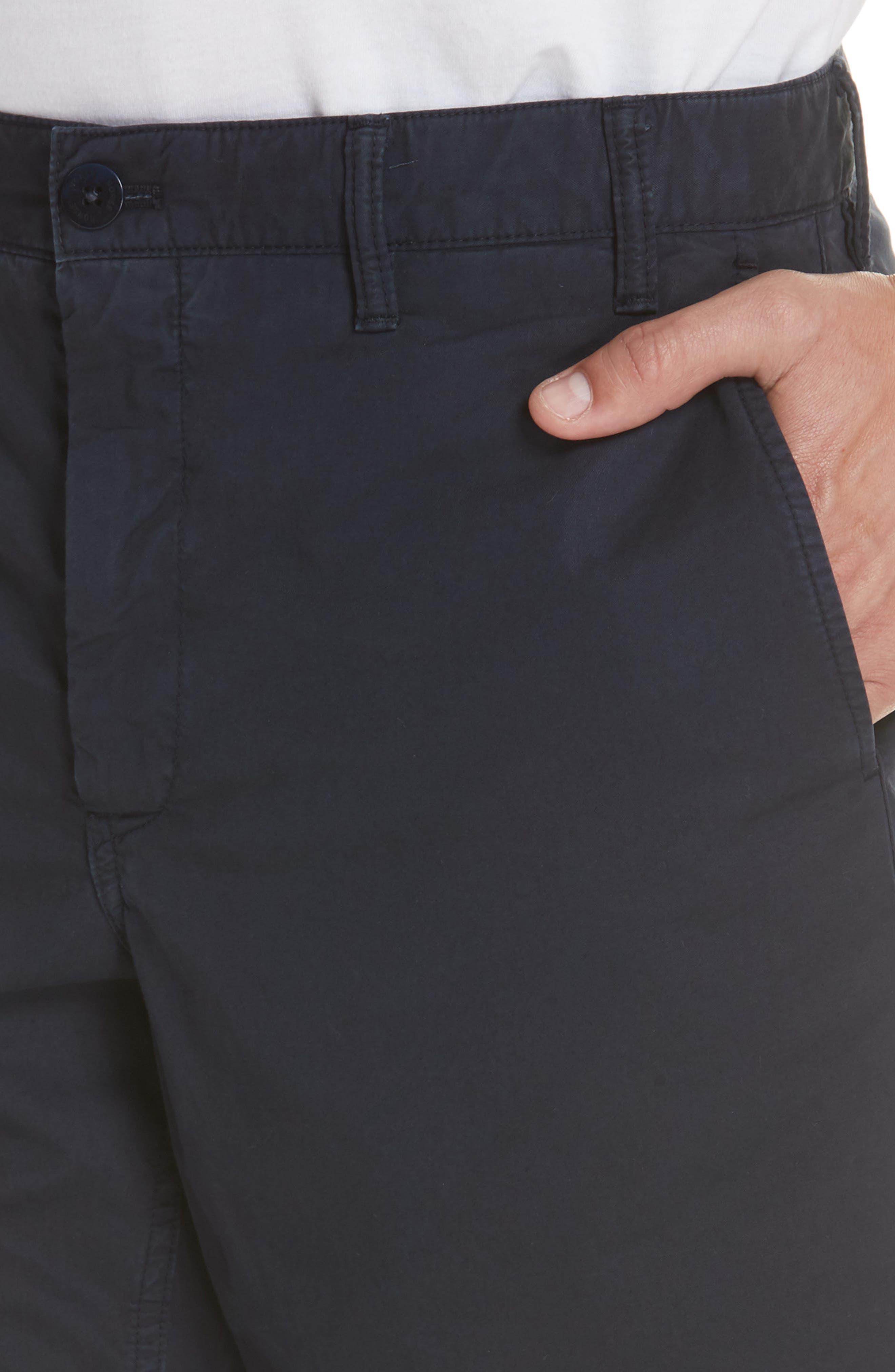 Aros Twill Shorts,                             Alternate thumbnail 4, color,                             DARK NAVY